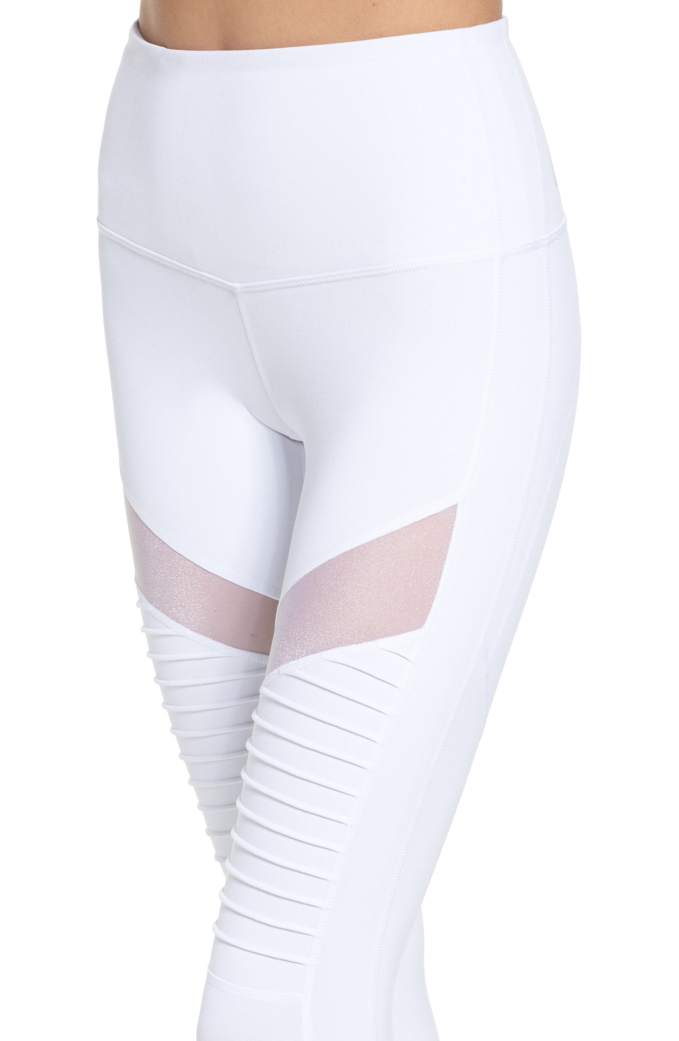 Alternate Image 4  - Zella Autumn High Waist Moto Ankle Leggings