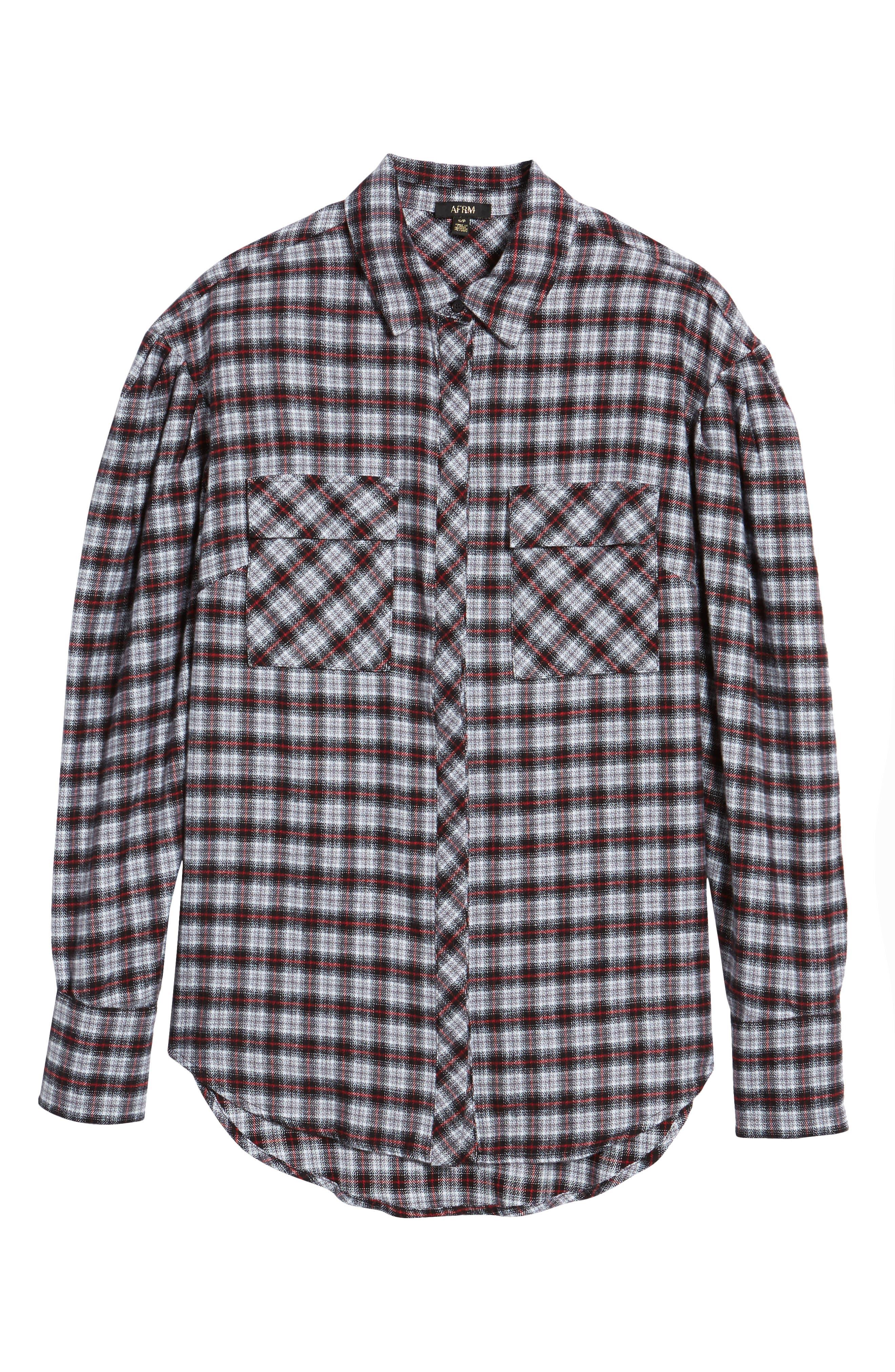 Alternate Image 6  - AFRM Victoria Oversize Flannel Shirt