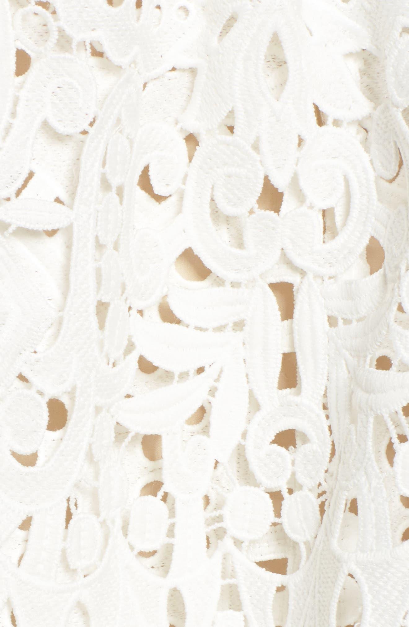 Saint Cloud Cold Shoulder Ruffle Dress,                             Alternate thumbnail 5, color,                             White
