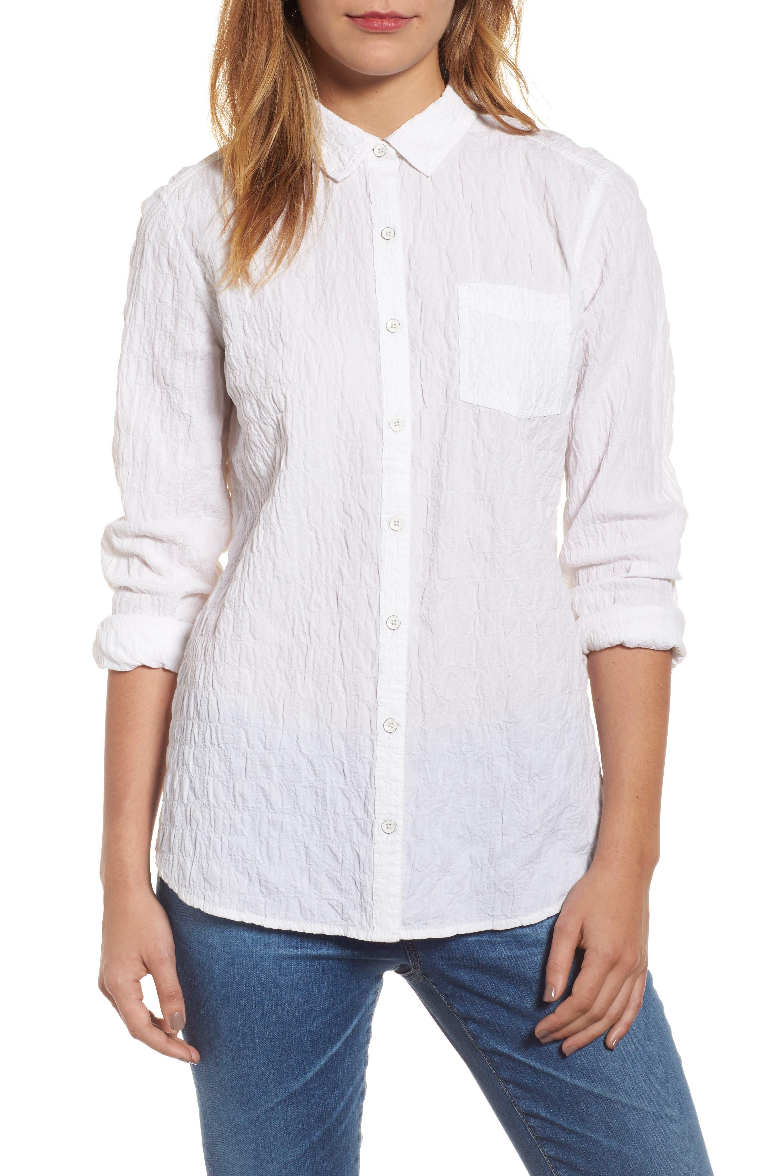 Button Up Shirt,                             Main thumbnail 1, color,                             White