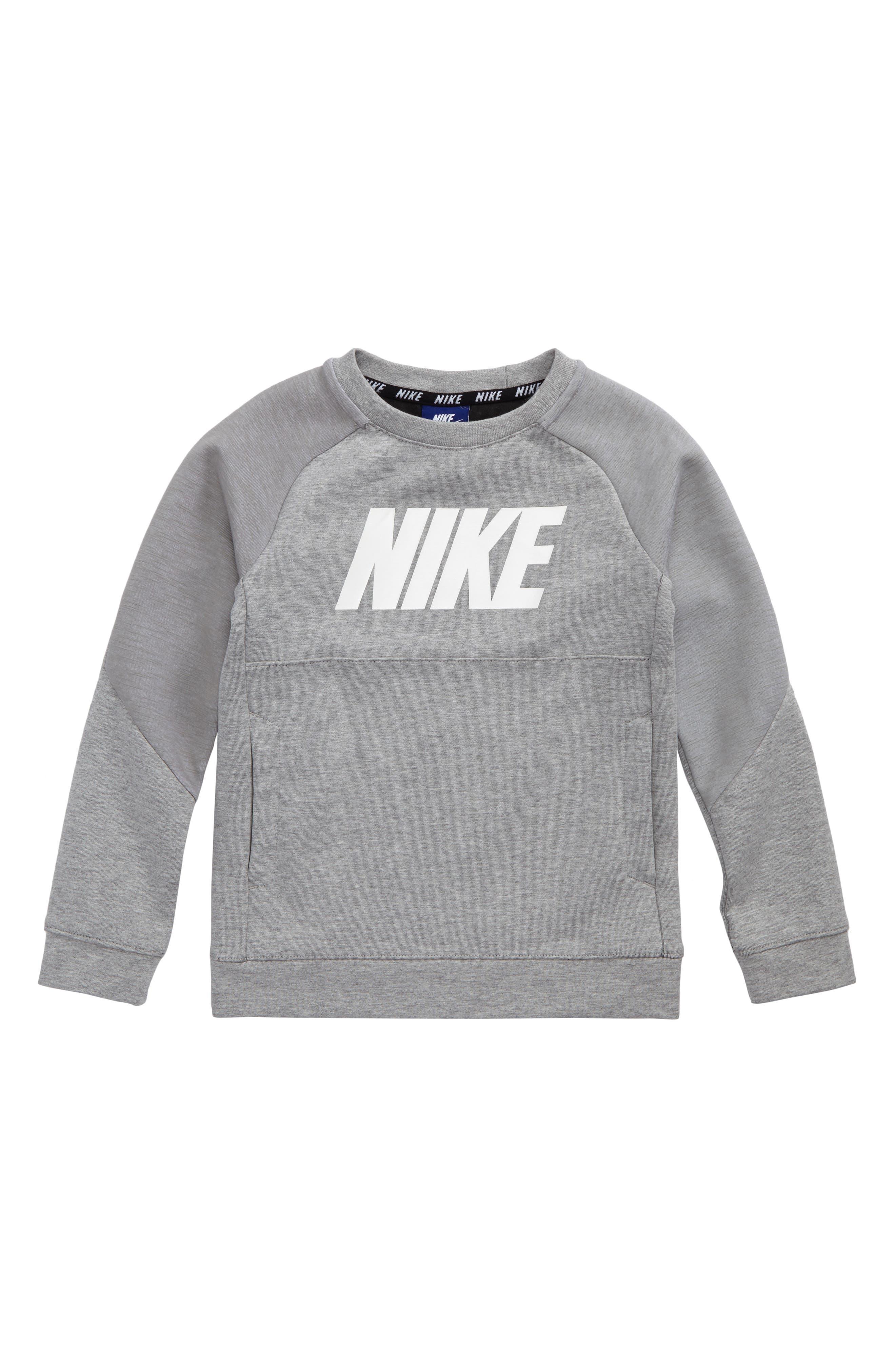 Alternate Image 1 Selected - Nike Raglan Sleeve Sweatshirt (Toddler Boys & Little Boys)