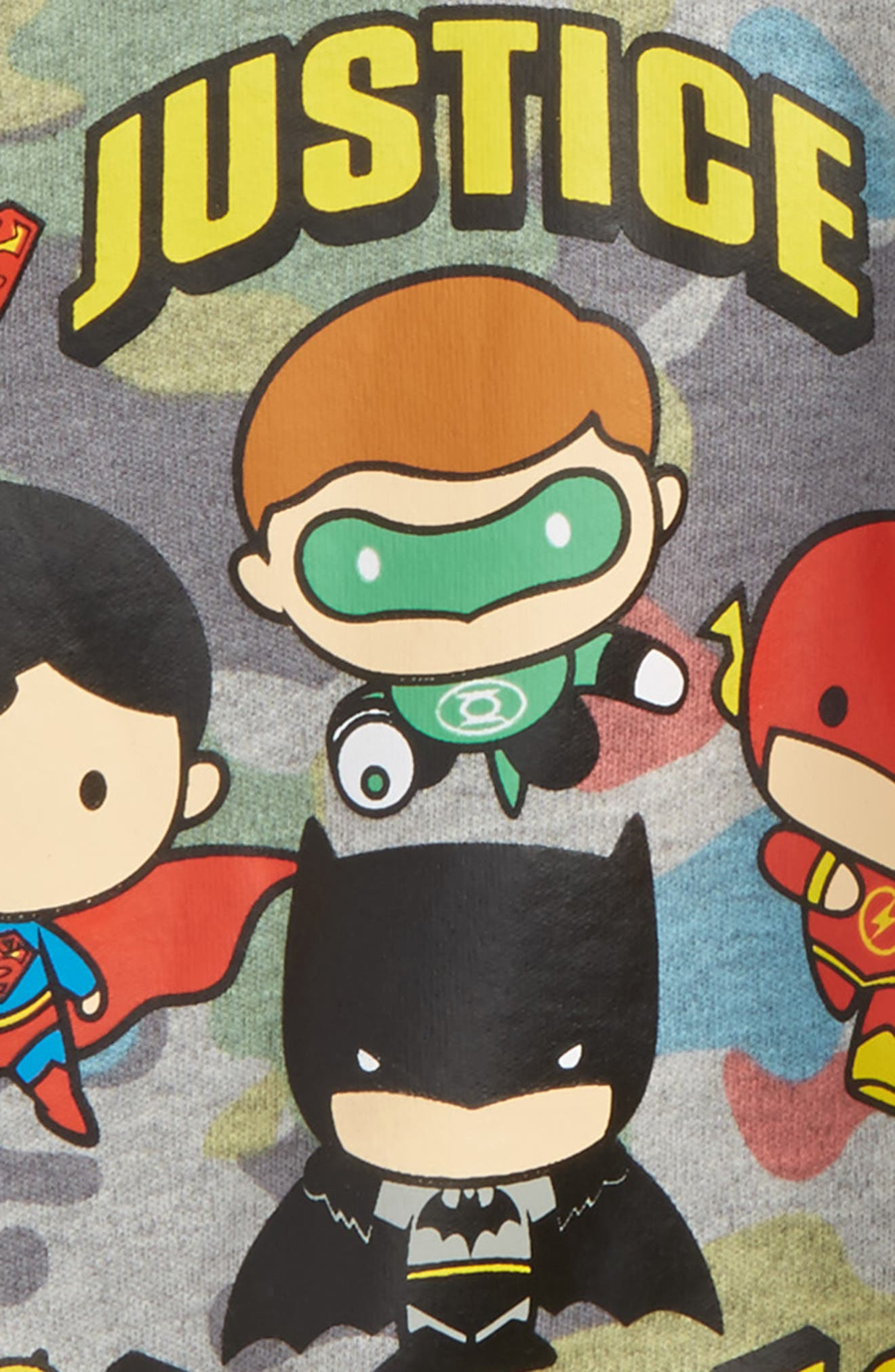 Alternate Image 2  - Warner Brothers™ Justice League™ Fitted Two-Piece Pajamas Set (Toddler Boys, Little Boys & Big Boys)