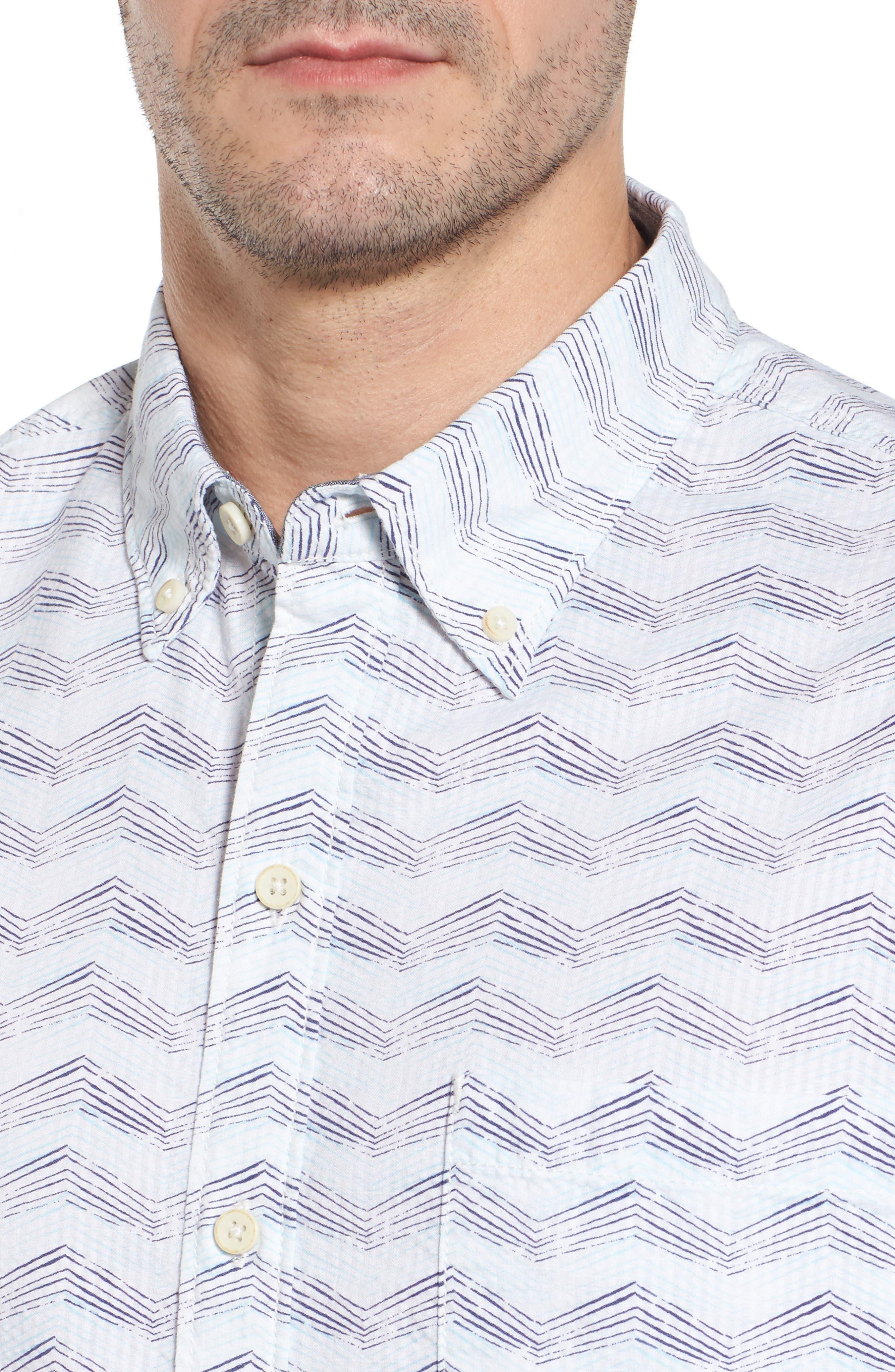 Alternate Image 4  - Tommy Bahama Chevron Shores Print Sport Shirt