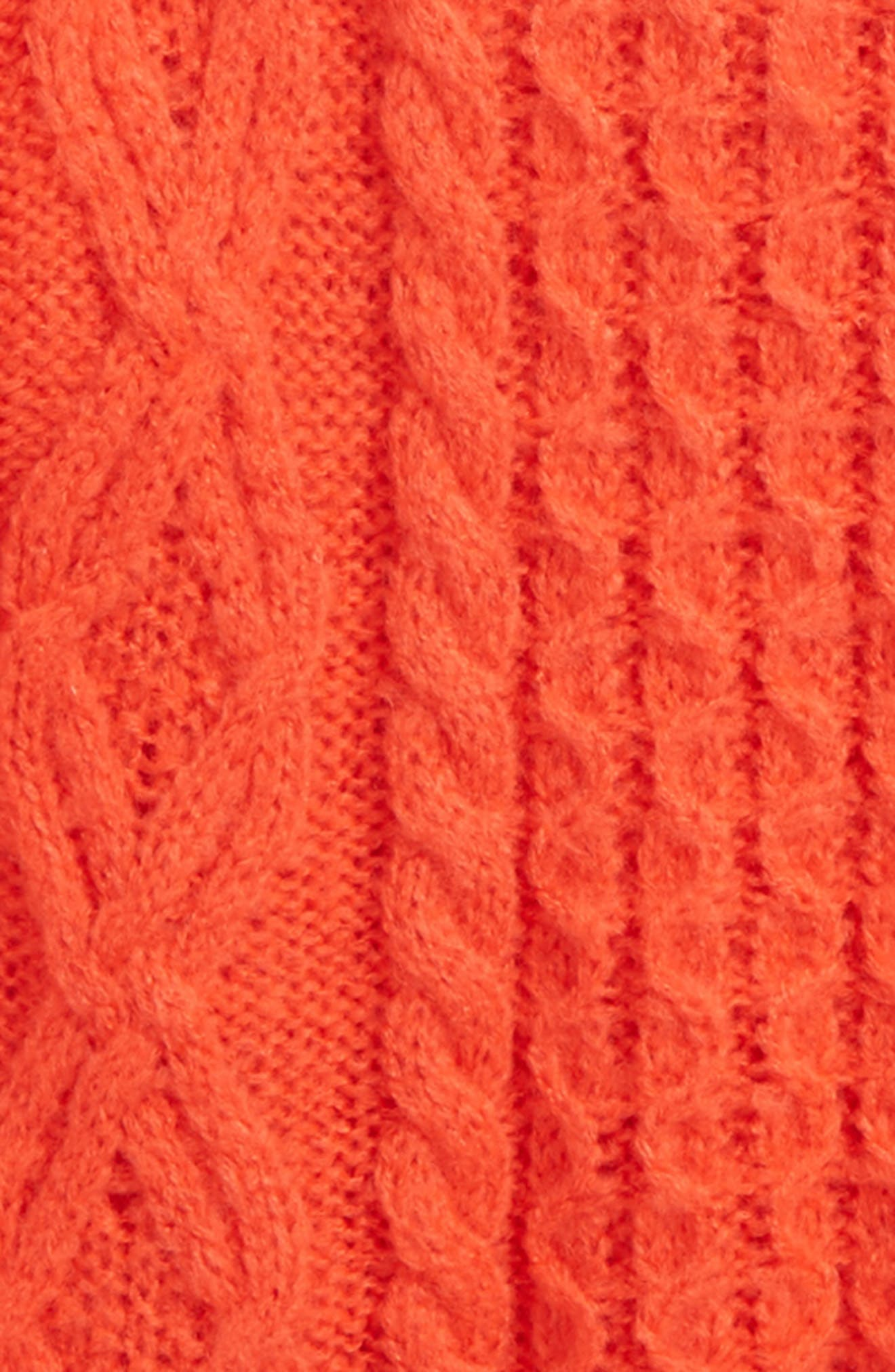 Cable Sweater,                             Alternate thumbnail 2, color,                             Red Bittersweet