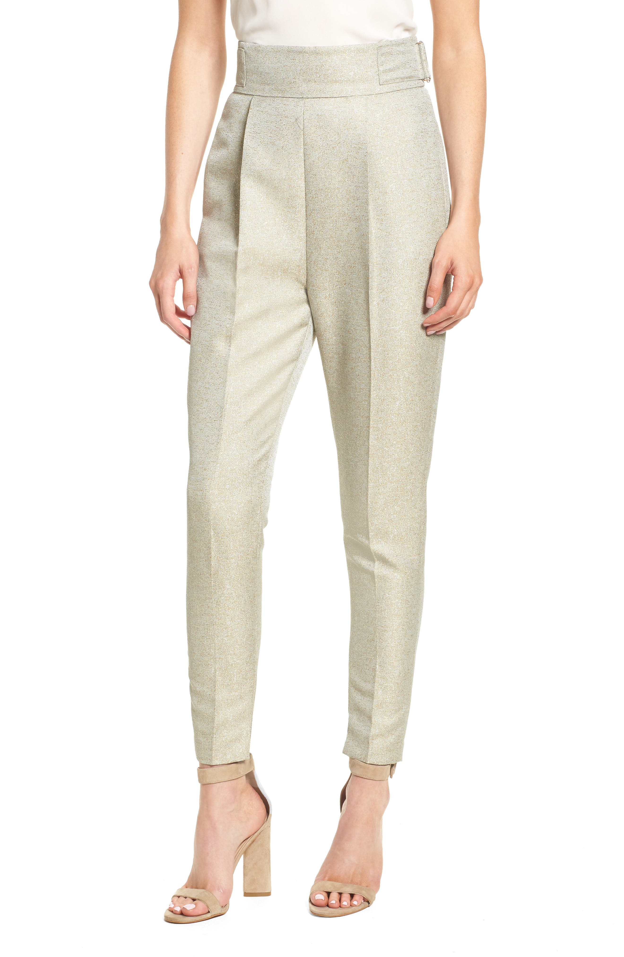 Valencia High Waist Ankle Skinny Pants,                             Main thumbnail 1, color,                             Sage