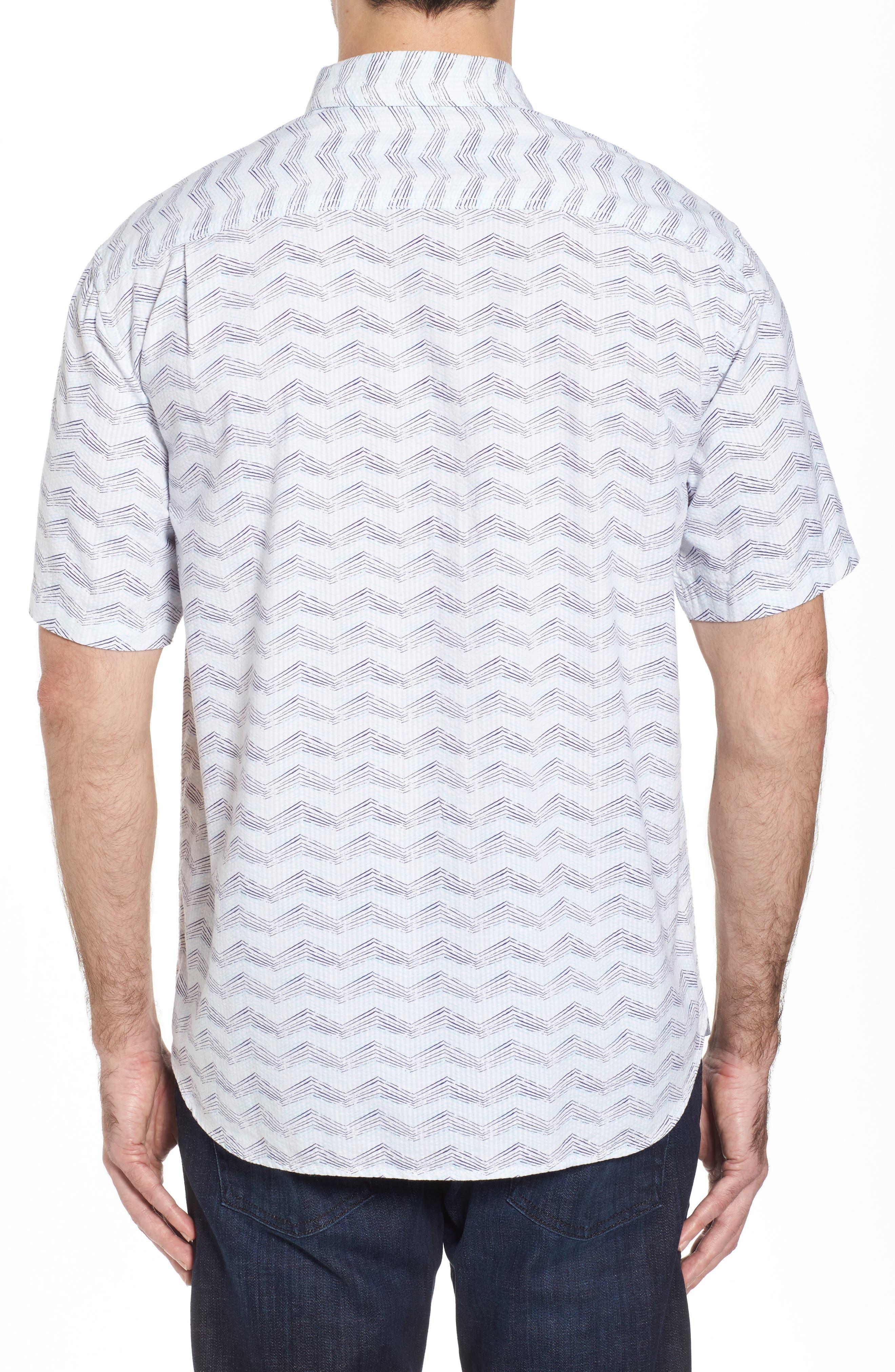 Alternate Image 2  - Tommy Bahama Chevron Shores Print Sport Shirt