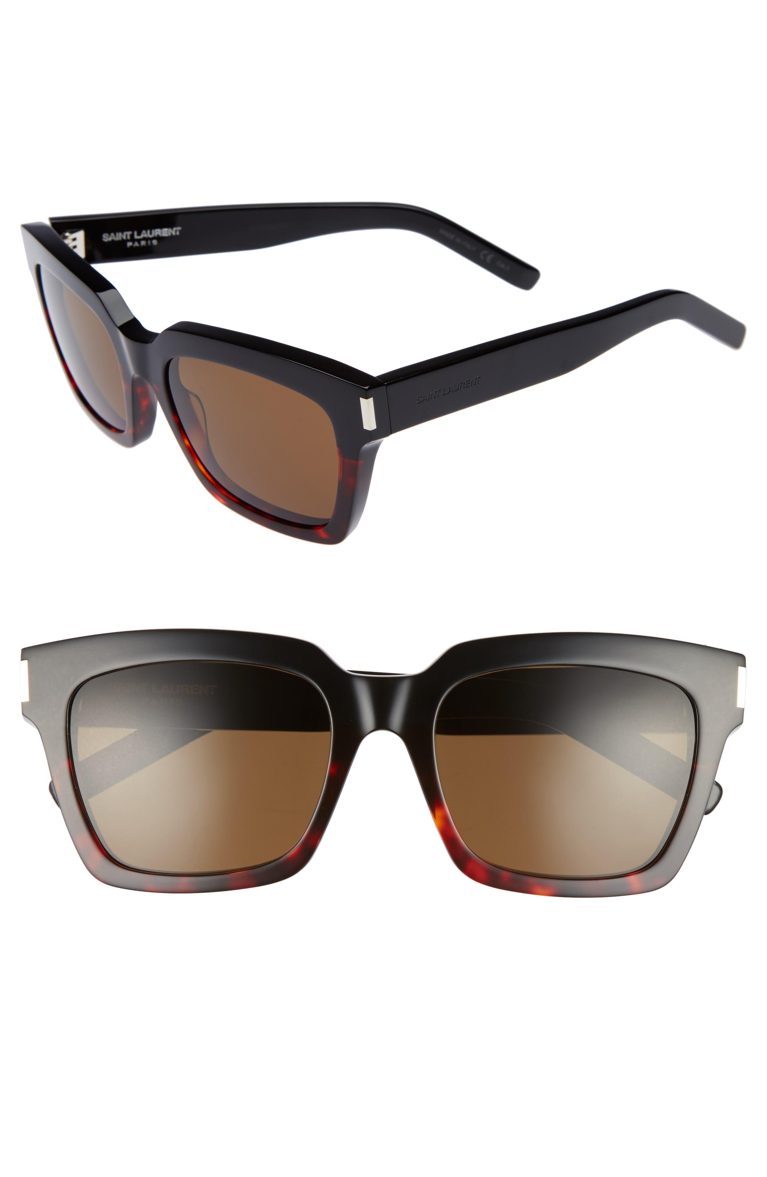 Saint Laurent Bold 1 54mm Square Sunglasses