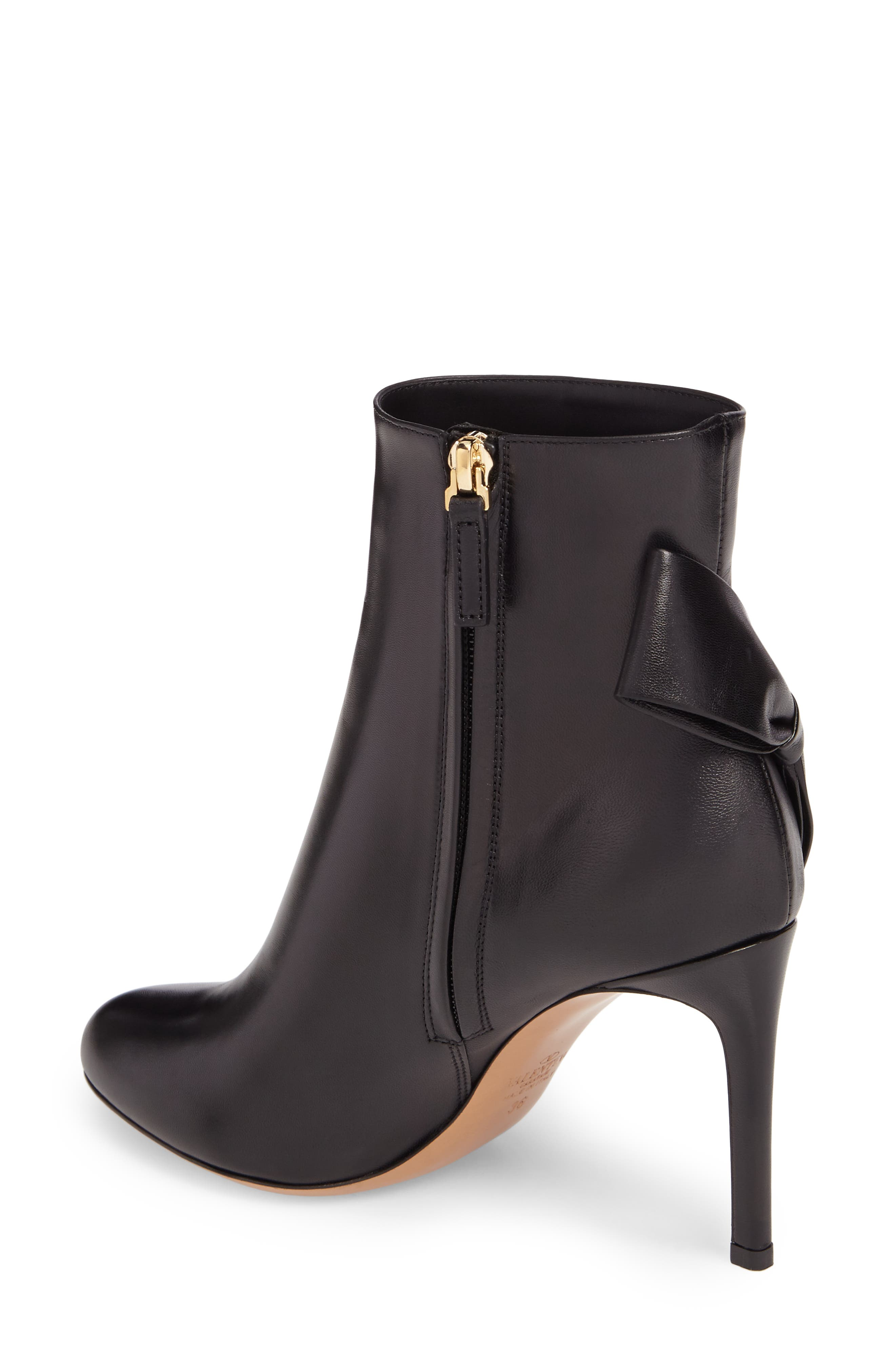 GARAVANI Pretty Bow Bootie,                             Alternate thumbnail 2, color,                             Black Leather
