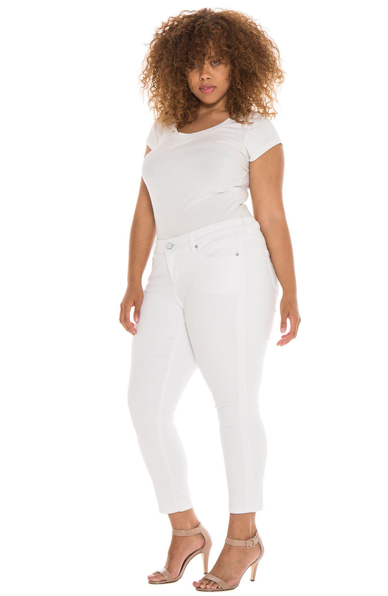 Alternate Image 4  - SLINK Jeans Stretch Skinny Jeans (Charlie) (Plus Size)