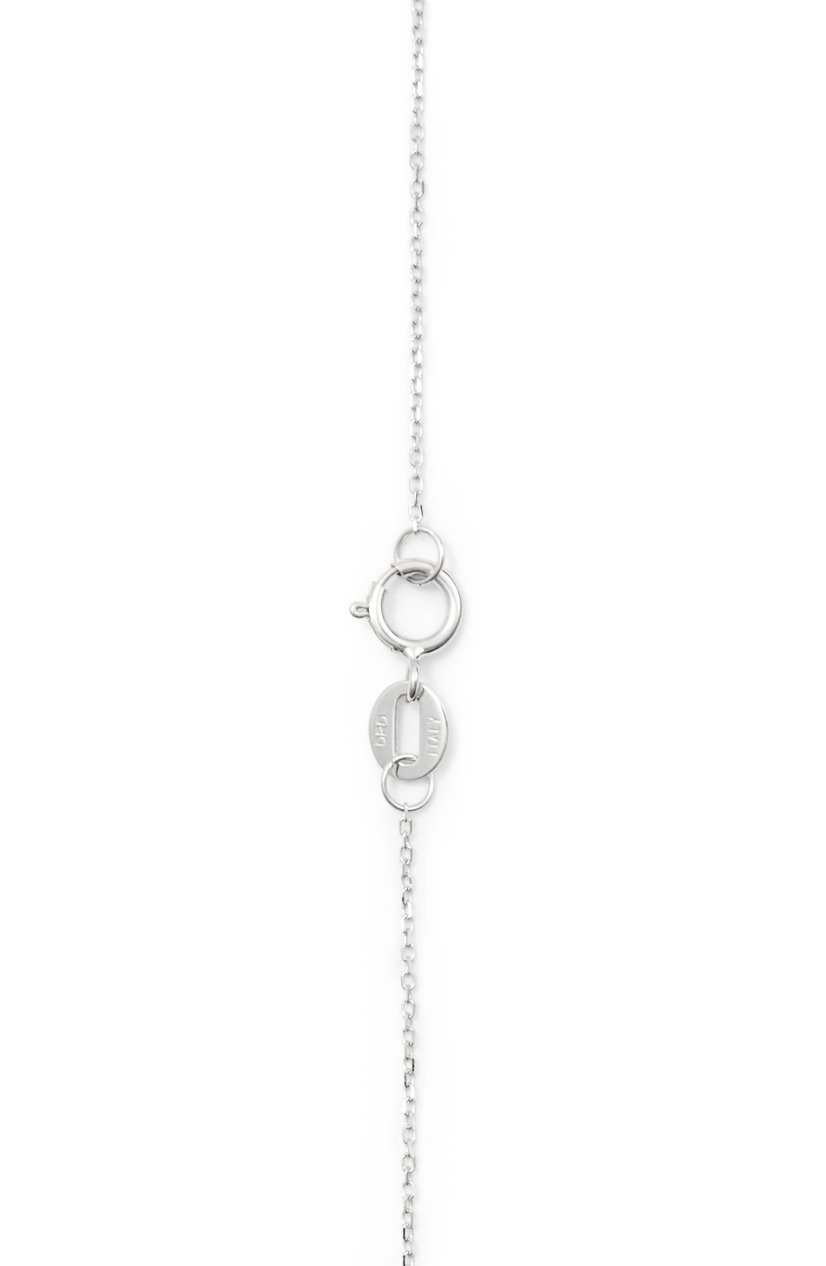 'Emily Sarah' Diamond Triangle Pendant Necklace,                             Alternate thumbnail 5, color,                             White Gold