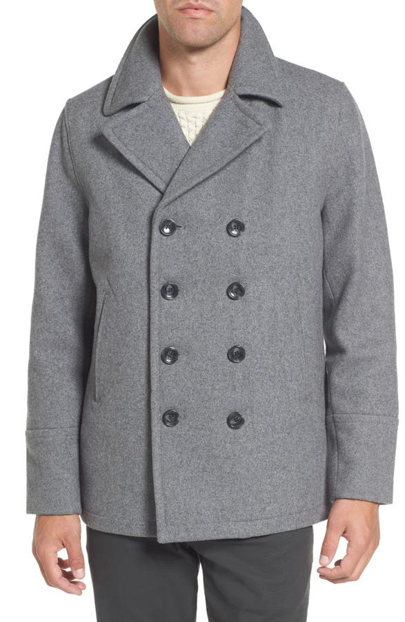Michael Kors Wool Blend Double Breasted Peacoat | Nordstrom