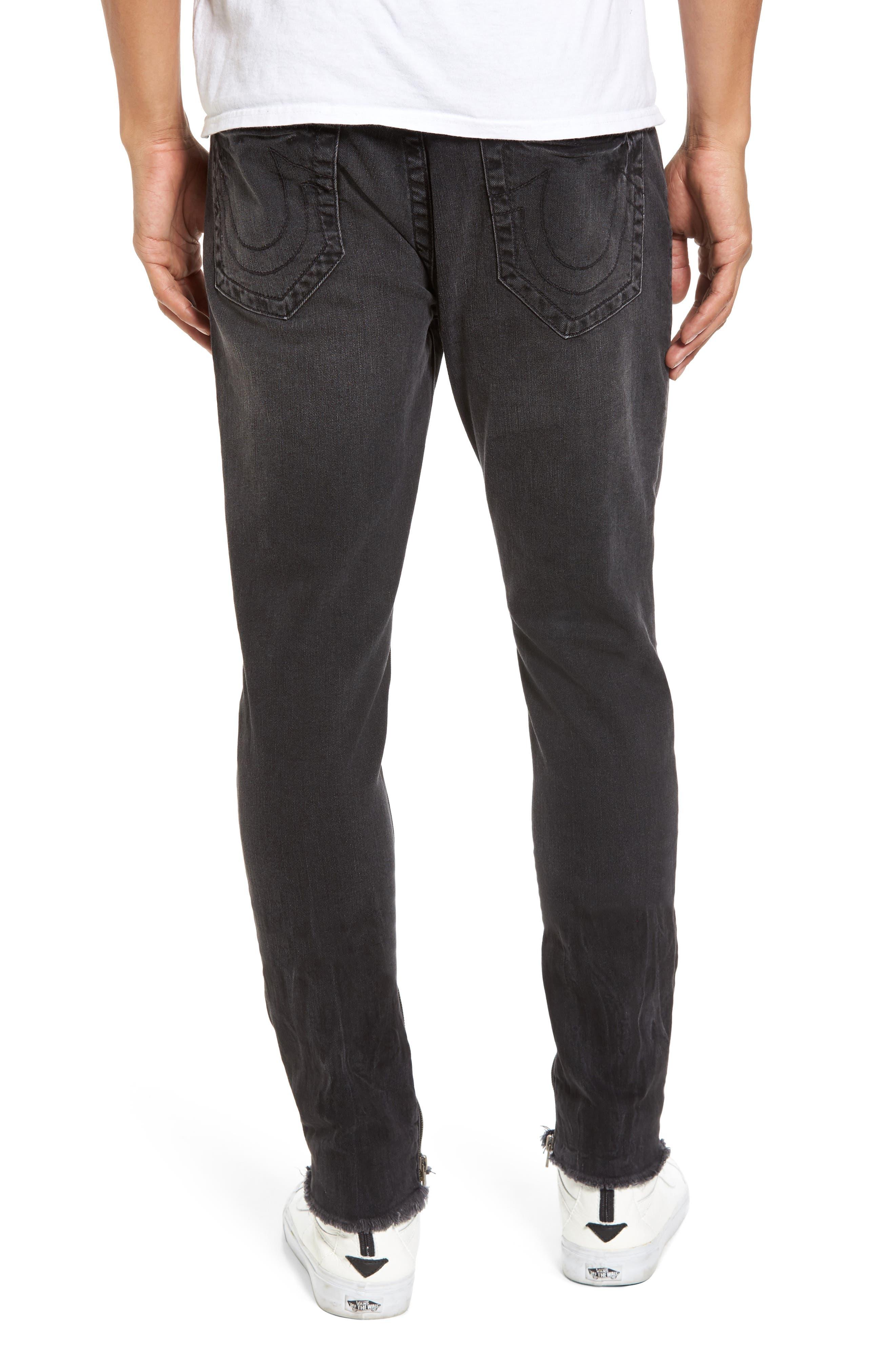 Alternate Image 2  - True Religion Brand Jeans Finn Frayed Skinny Fit Jeans (Dark Envy)
