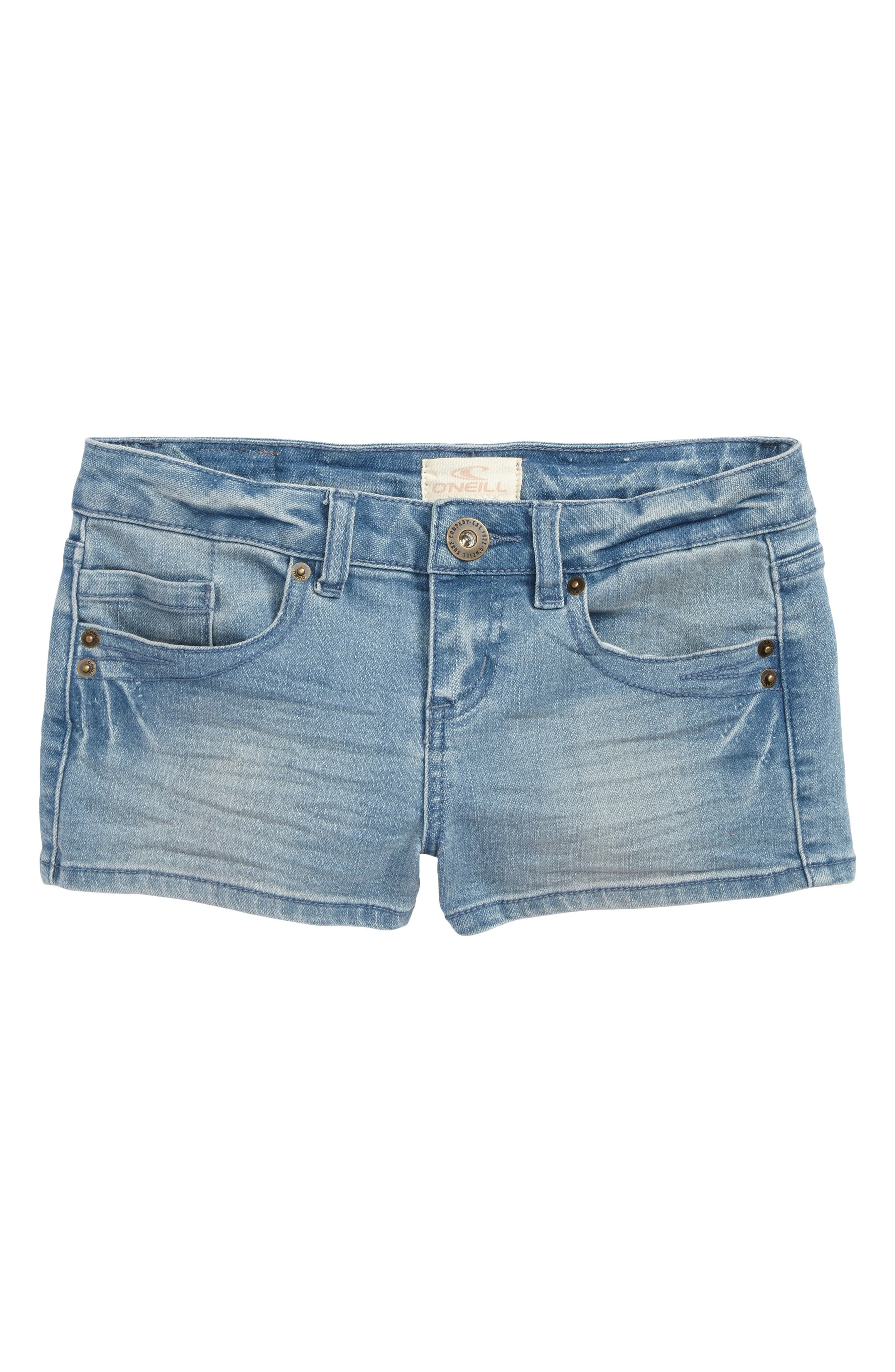 Alternate Image 1 Selected - O'Neiil Waidley Denim Shorts (Big Girls)