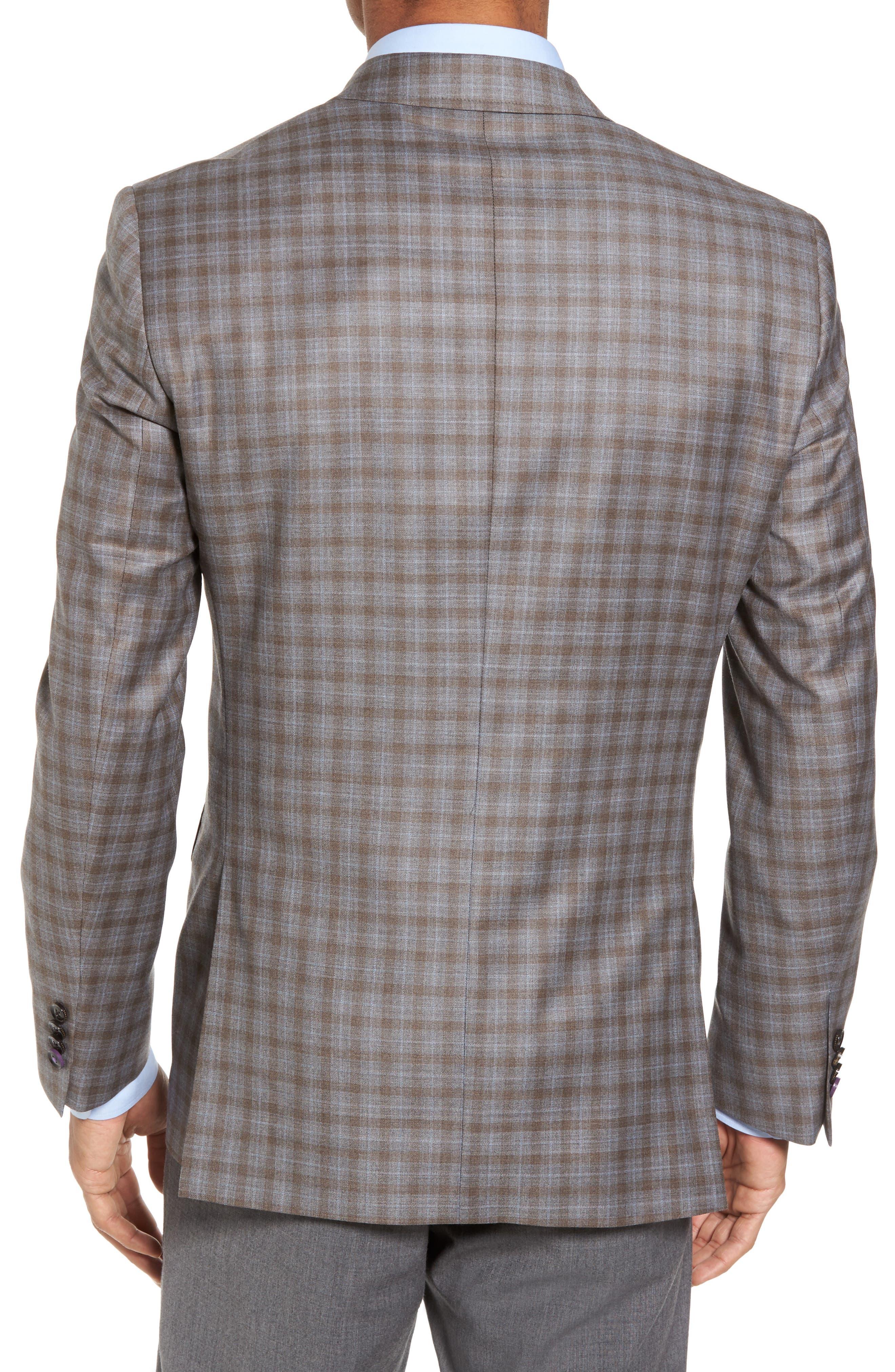 Alternate Image 2  - Ted Baker London Jay Trim Fit Plaid Wool Sport Coat