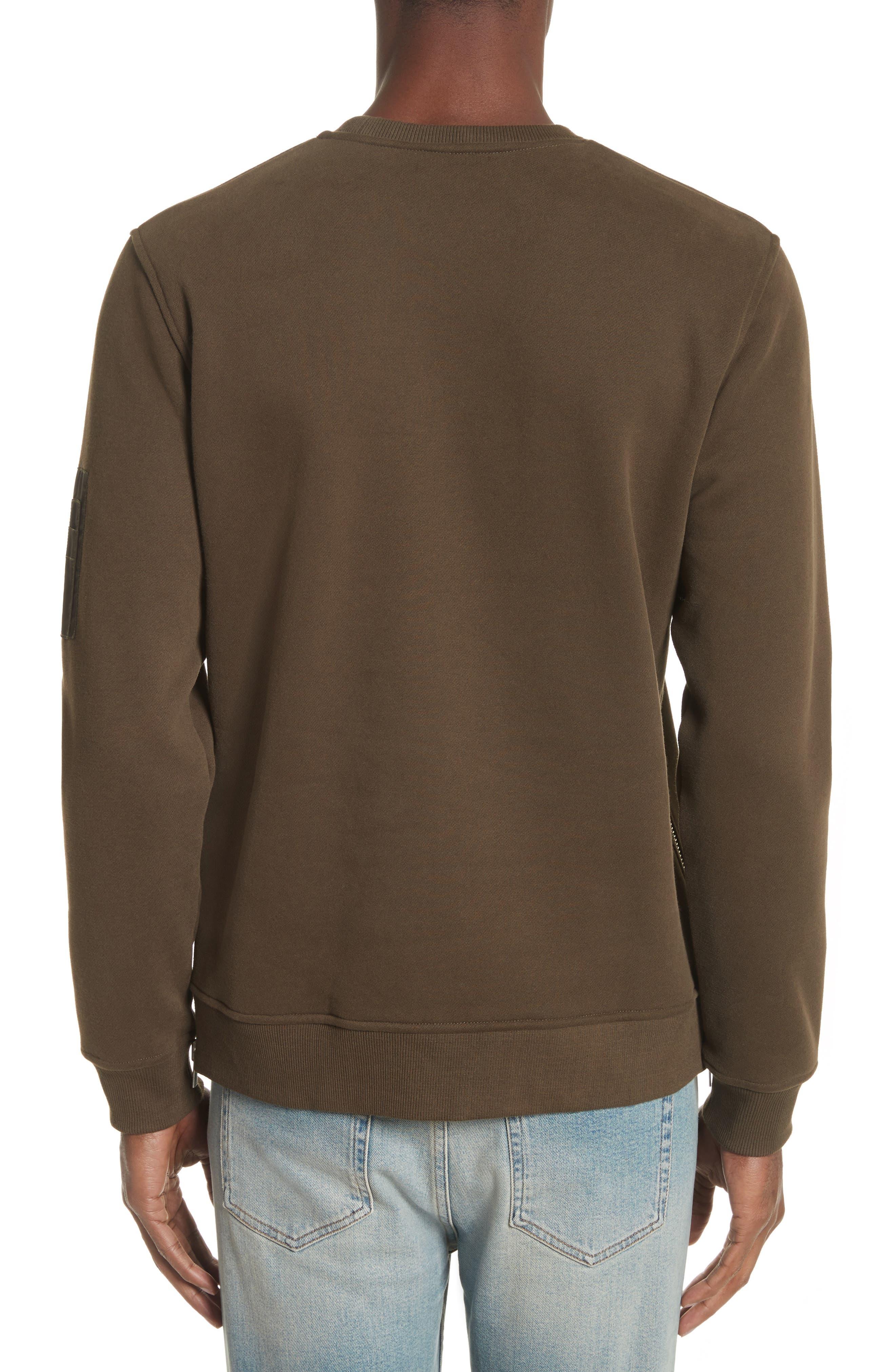 Crewneck Cotton Sweater,                             Alternate thumbnail 2, color,                             Khaki