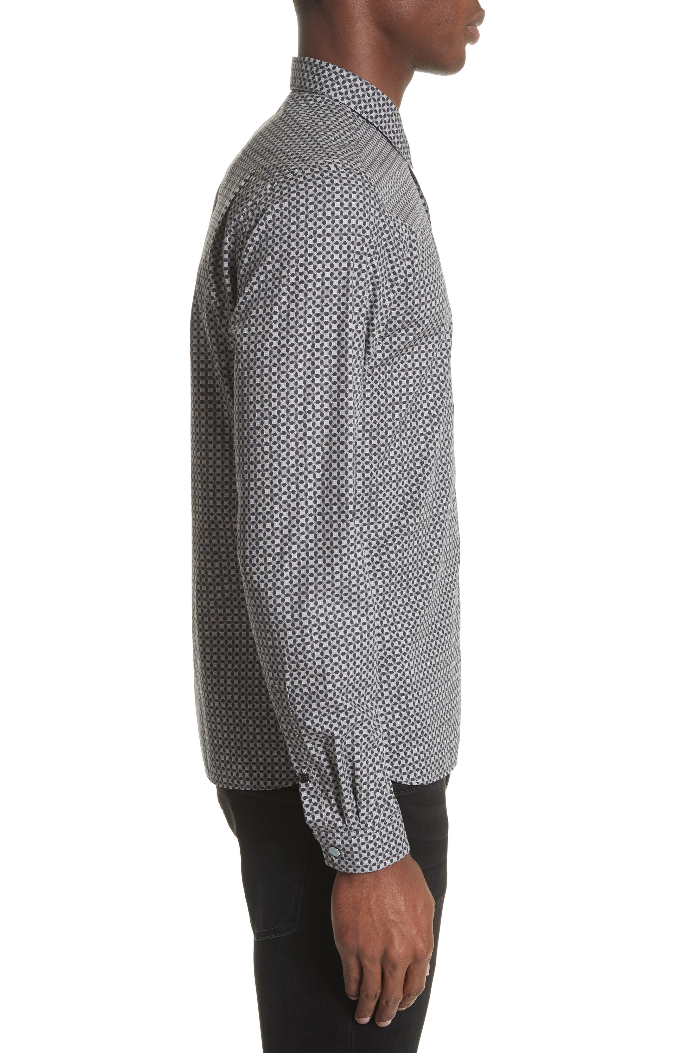 Alternate Image 3  - The Kooples Geometric Print Woven Shirt