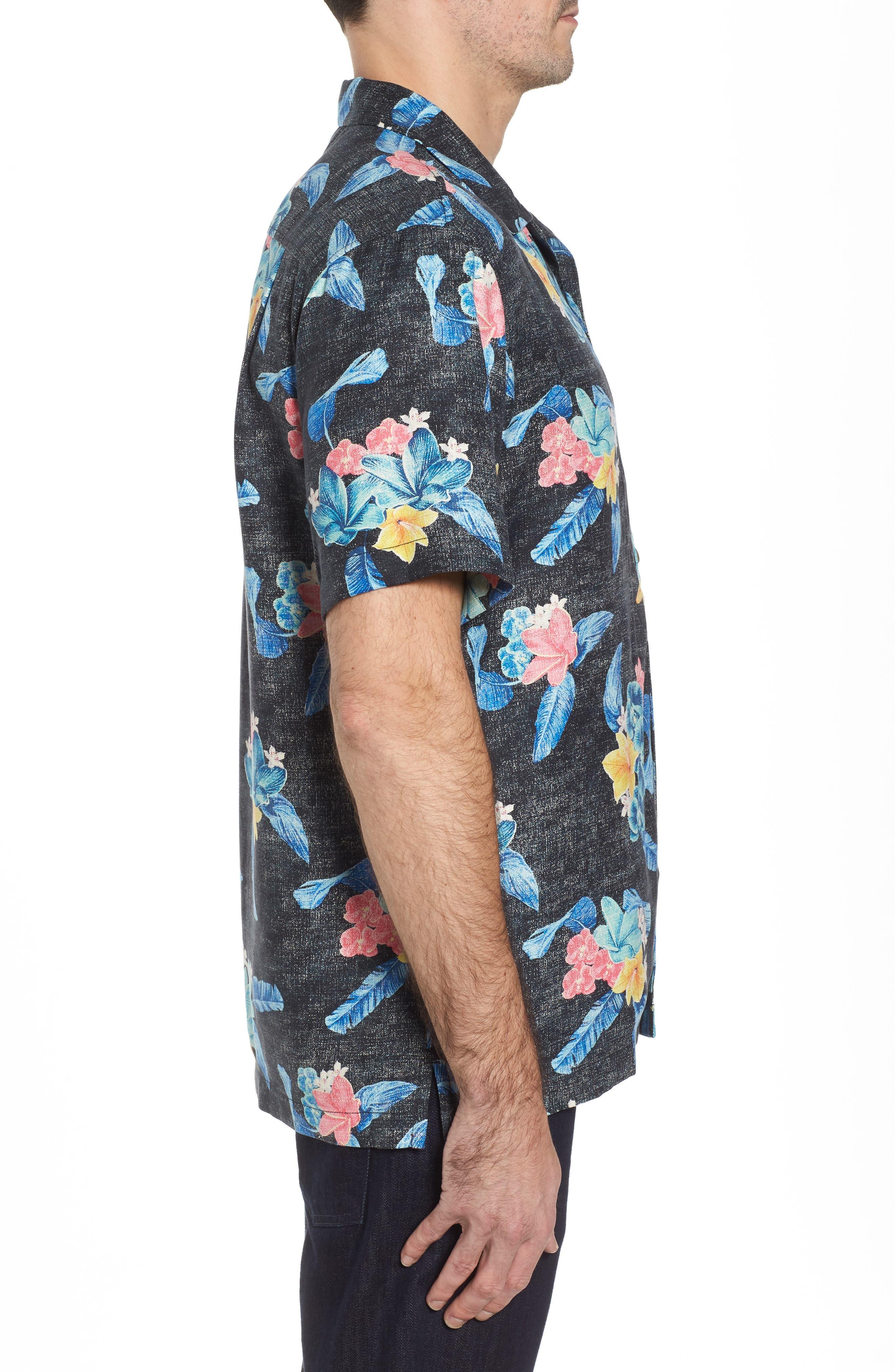 Alternate Image 3  - Tommy Bahama Salt Water Blooms Silk Sport Shirt