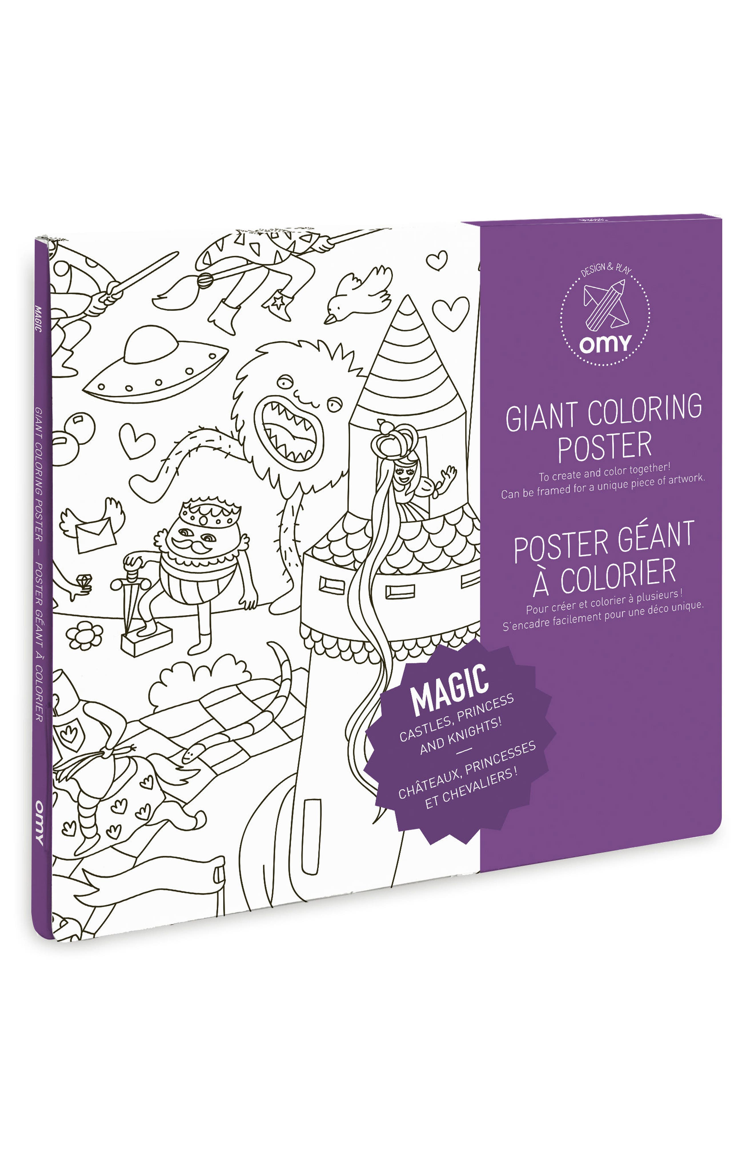 OMY Magic Giant Coloring Poster