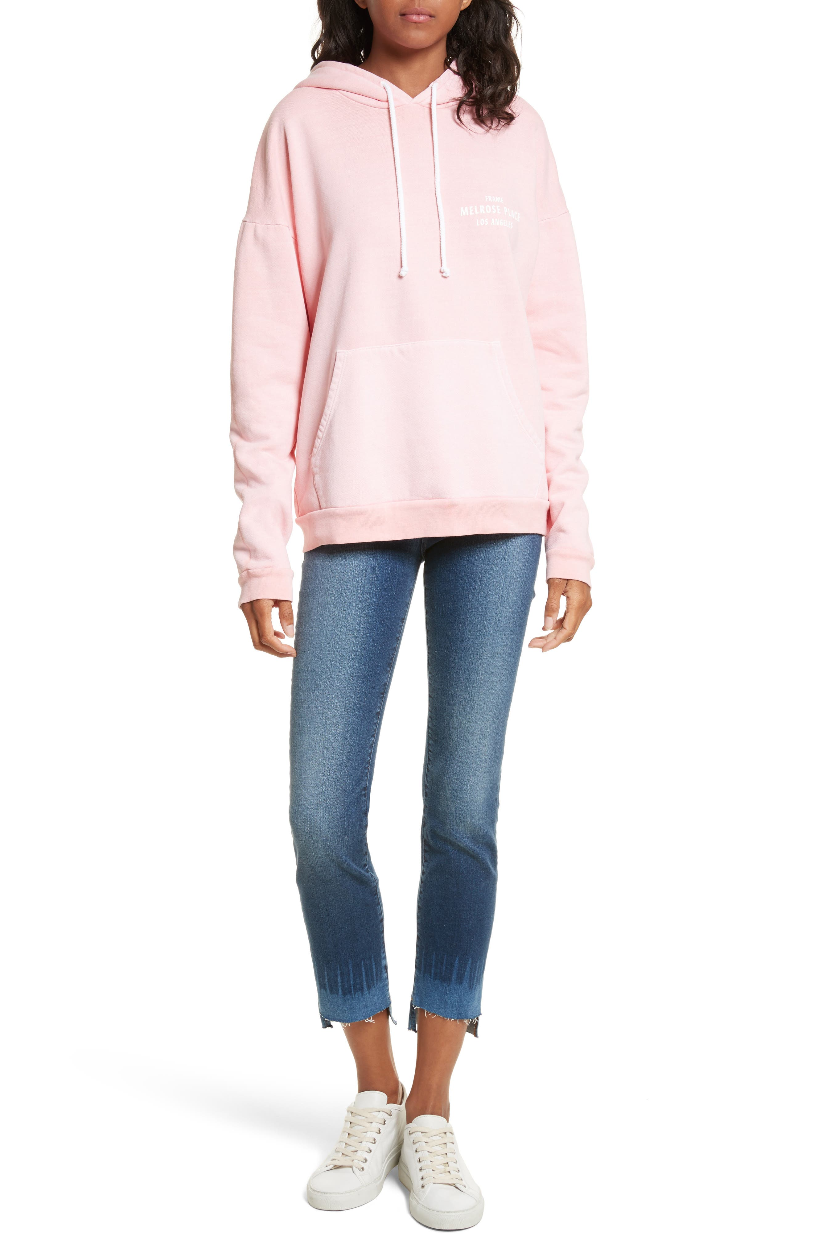 Oversize Hoodie,                             Alternate thumbnail 6, color,                             Faded Light Pink
