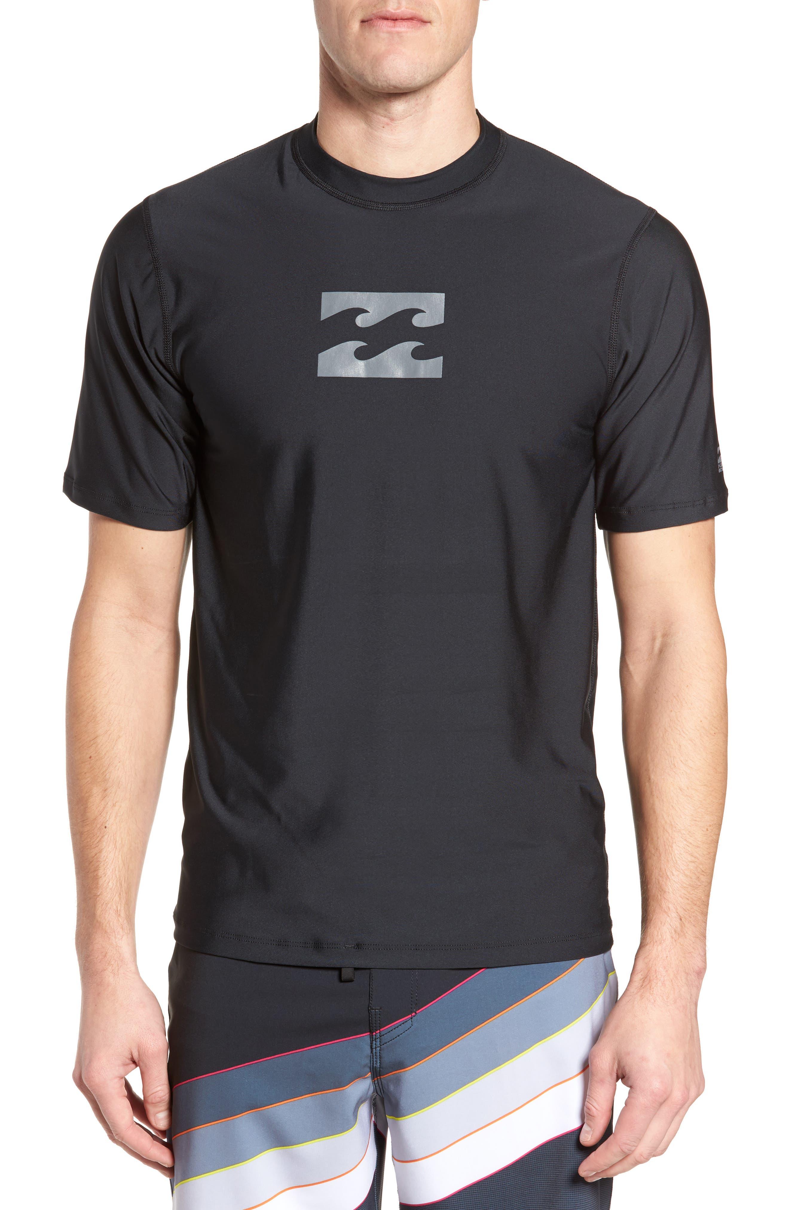 All Day Wave Wet Shirt,                             Main thumbnail 1, color,                             Black