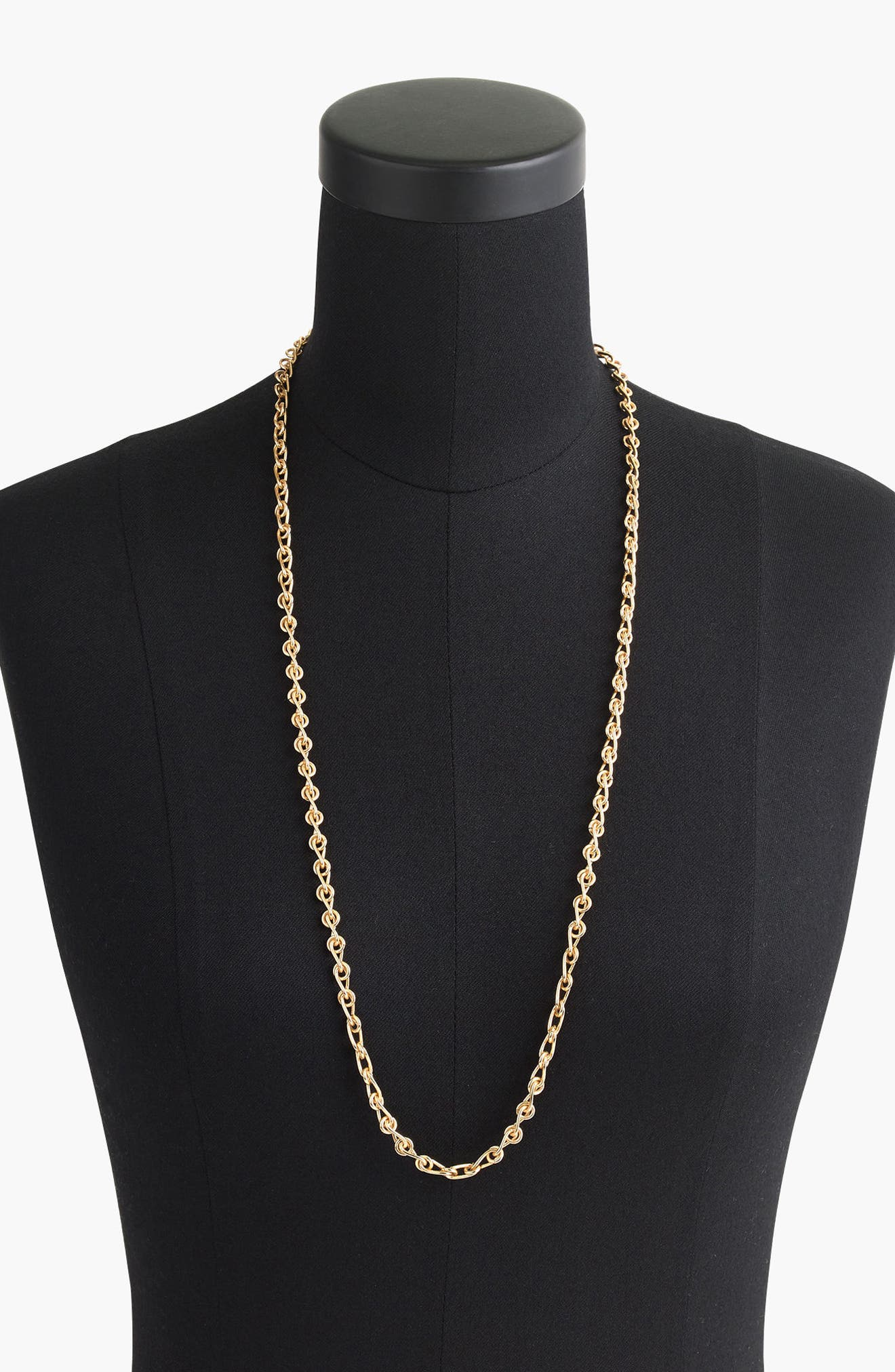 J.Crew Chain Link Lariat Necklace,                         Main,                         color, Burnished Gold