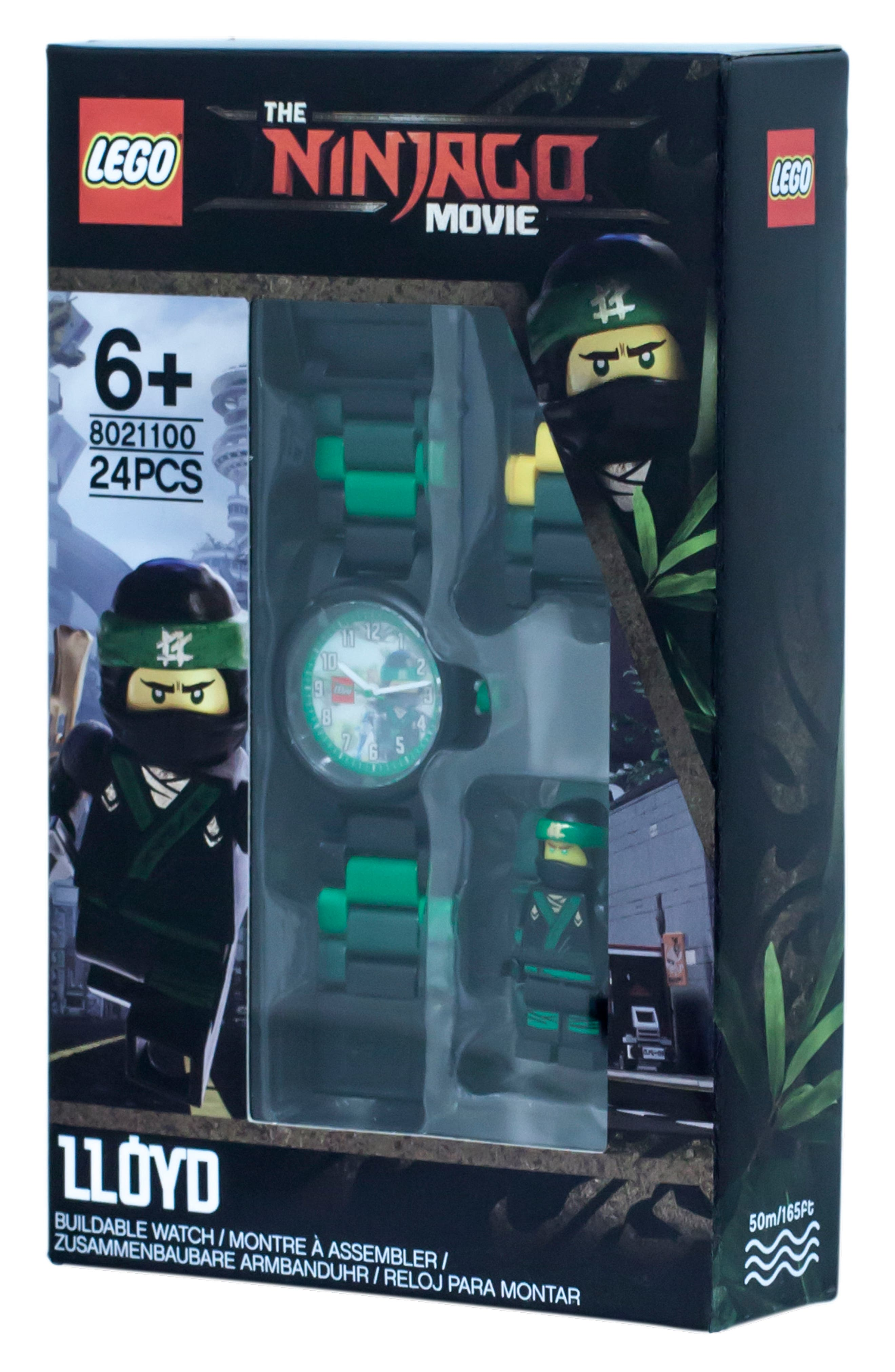 24-Piece Ninjago Lloyd Buildable Water-Resistant Watch,                             Alternate thumbnail 3, color,                             Black