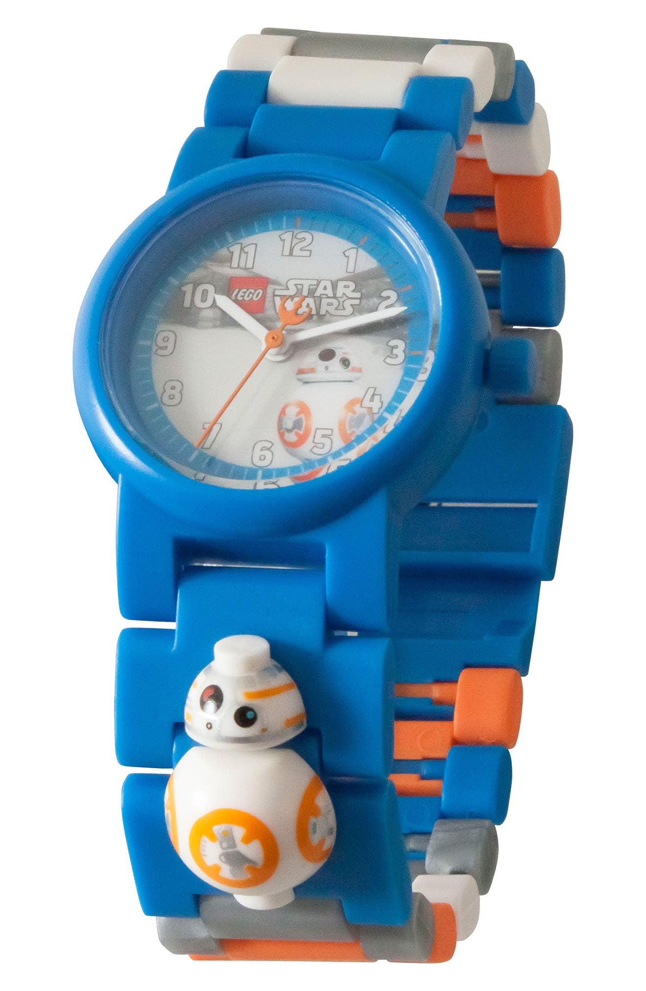 23-Piece Star Wars BB-8<sup>™</sup> Buildable Water-Resistant Watch,                             Alternate thumbnail 2, color,                             Blue