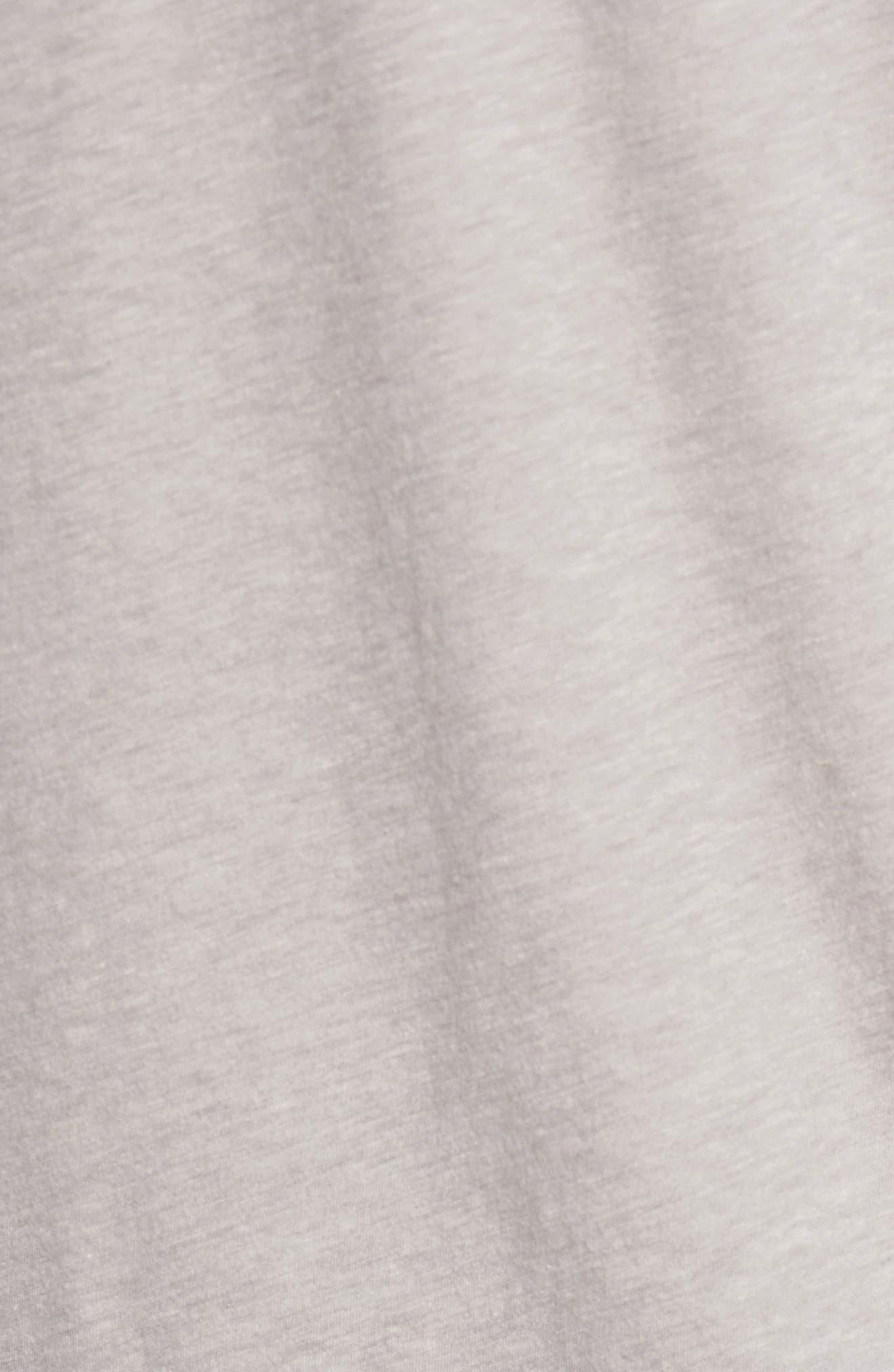 Mélange Long Sleeve Graphic T-Shirt,                             Alternate thumbnail 5, color,                             Fossil Melange