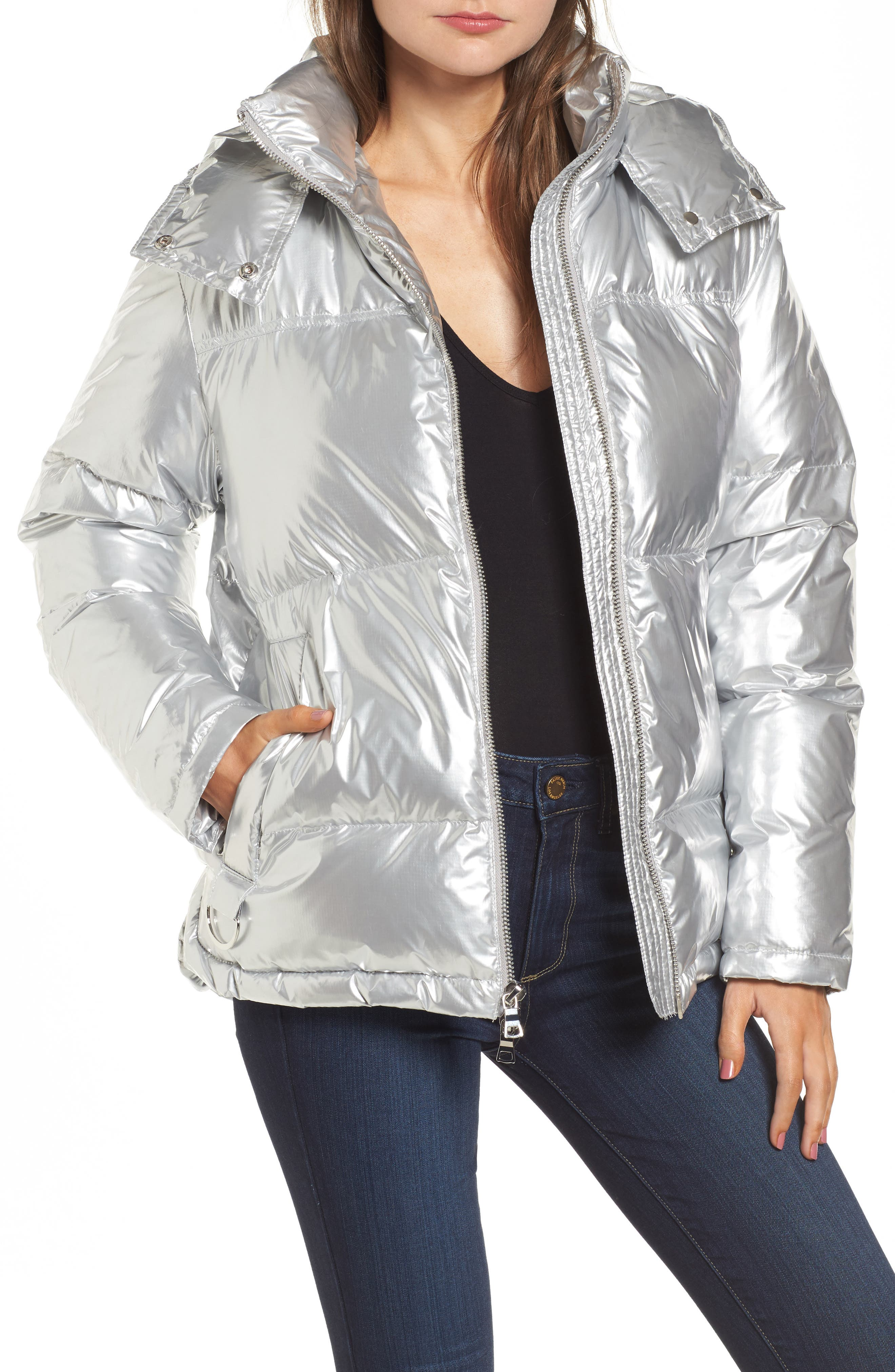 KENDALL + KYLIE Shiny Puffer Jacket