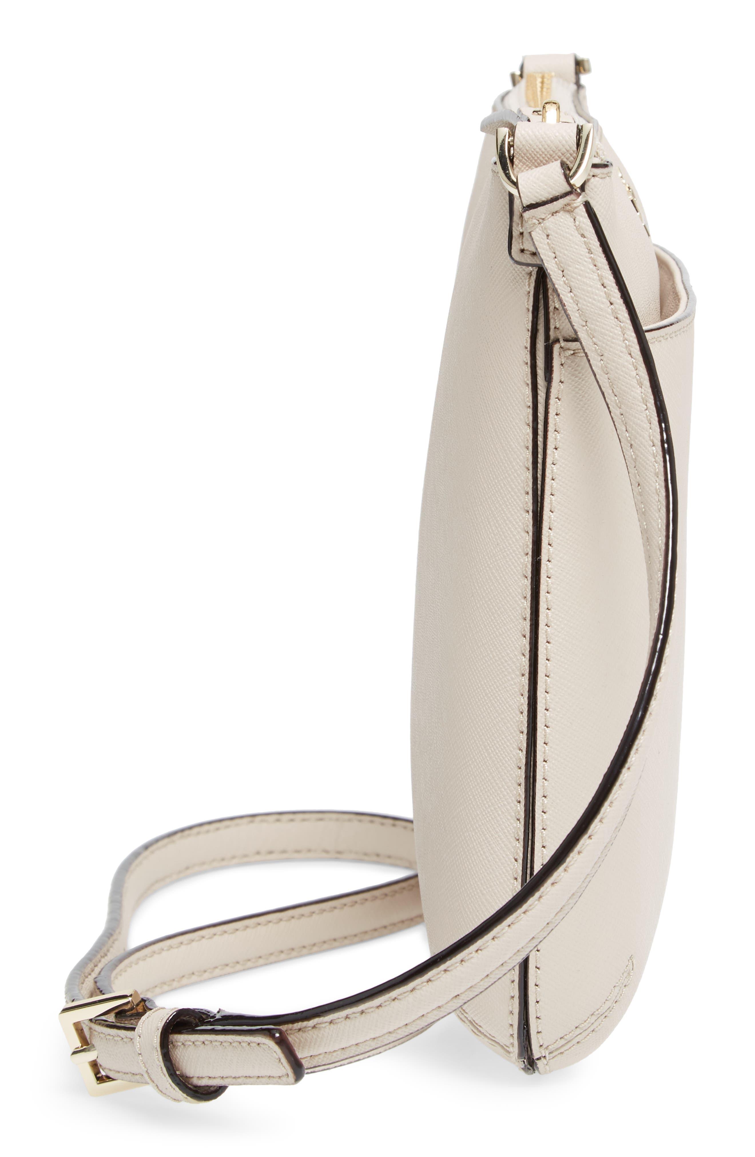 cameron street - tenley leather crossbody bag,                             Alternate thumbnail 5, color,                             Tusk