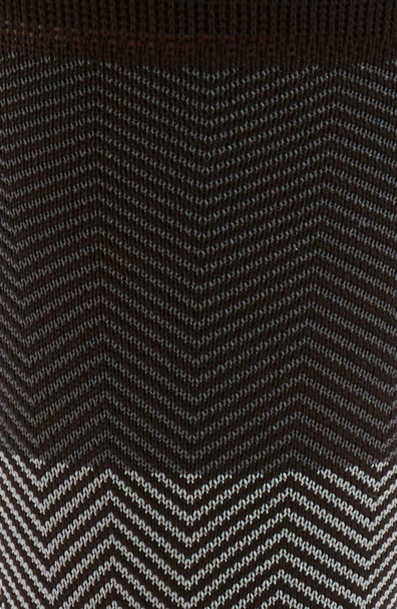 Herringbone Socks,                             Alternate thumbnail 2, color,                             Black