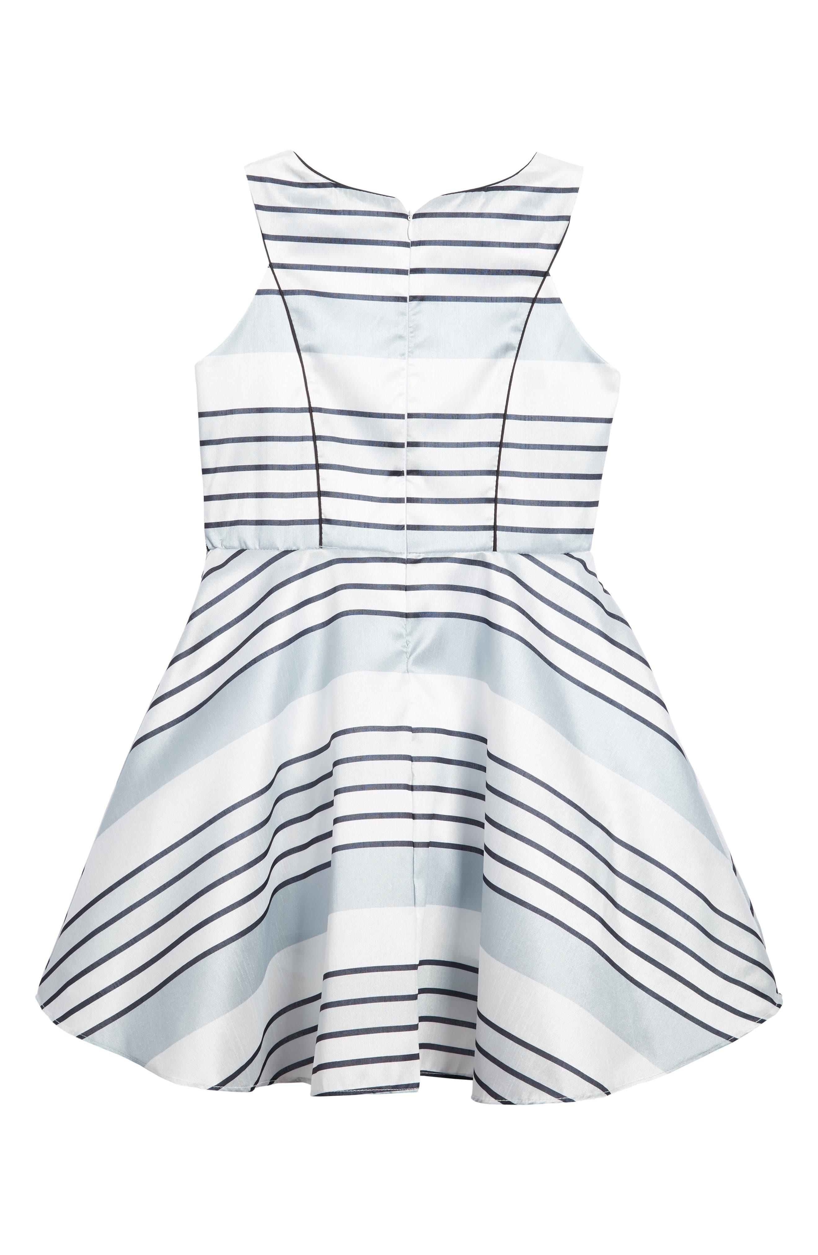 Stripe Dress,                             Alternate thumbnail 2, color,                             Silver Multi