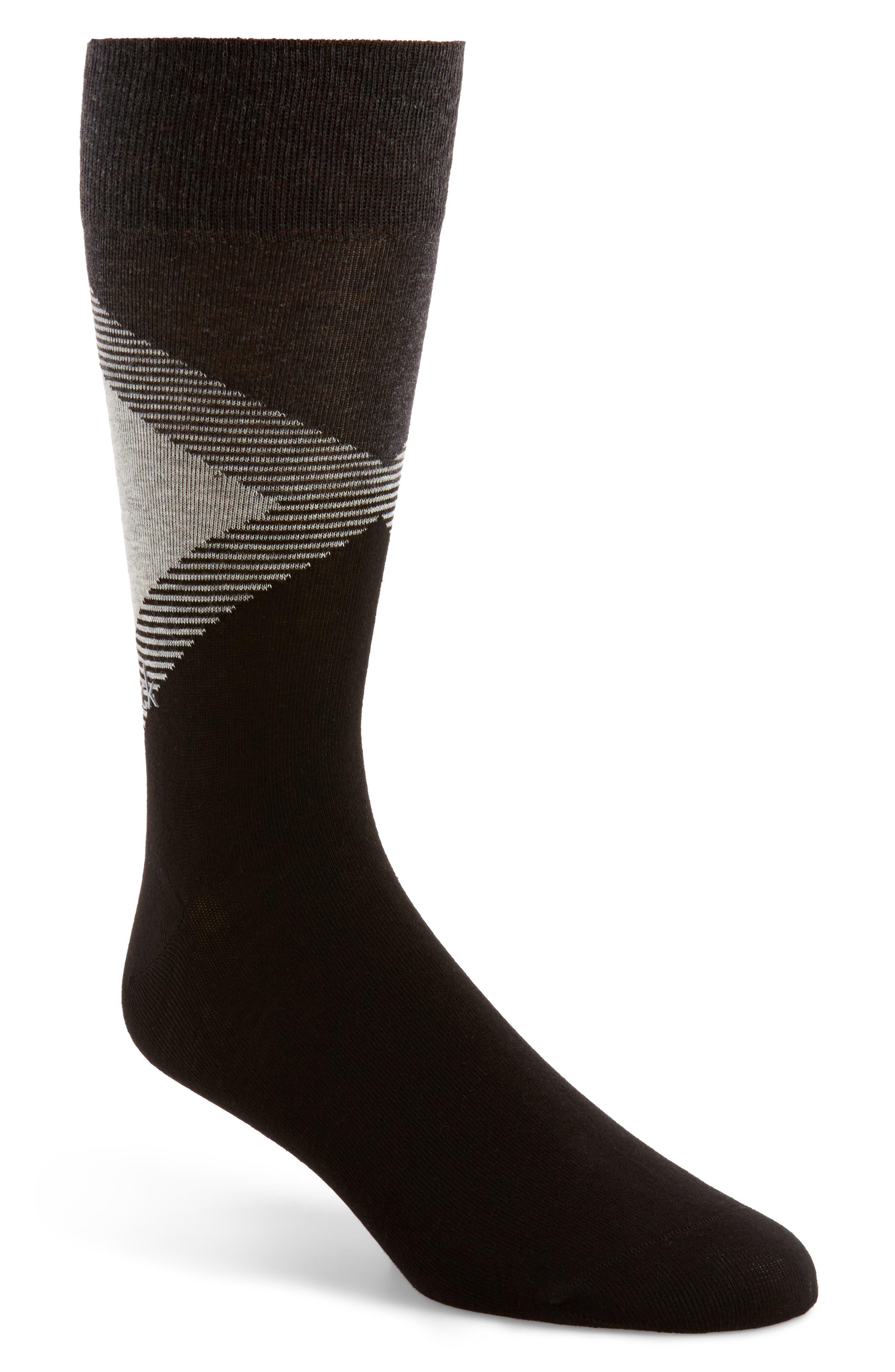Big Diamond Socks,                             Main thumbnail 1, color,                             Black