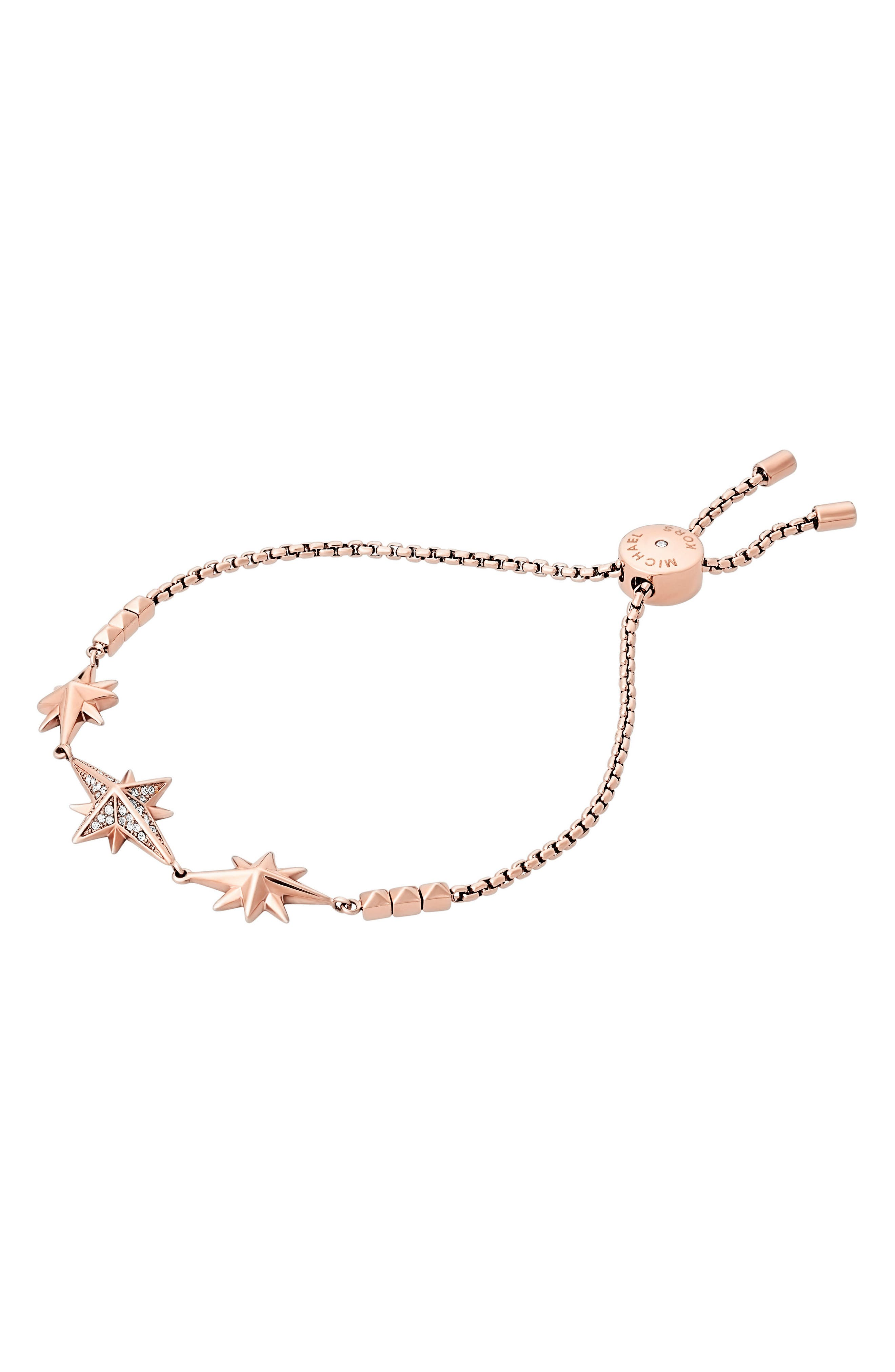 Michael Kors Adjustable Slide Charm Bracelet