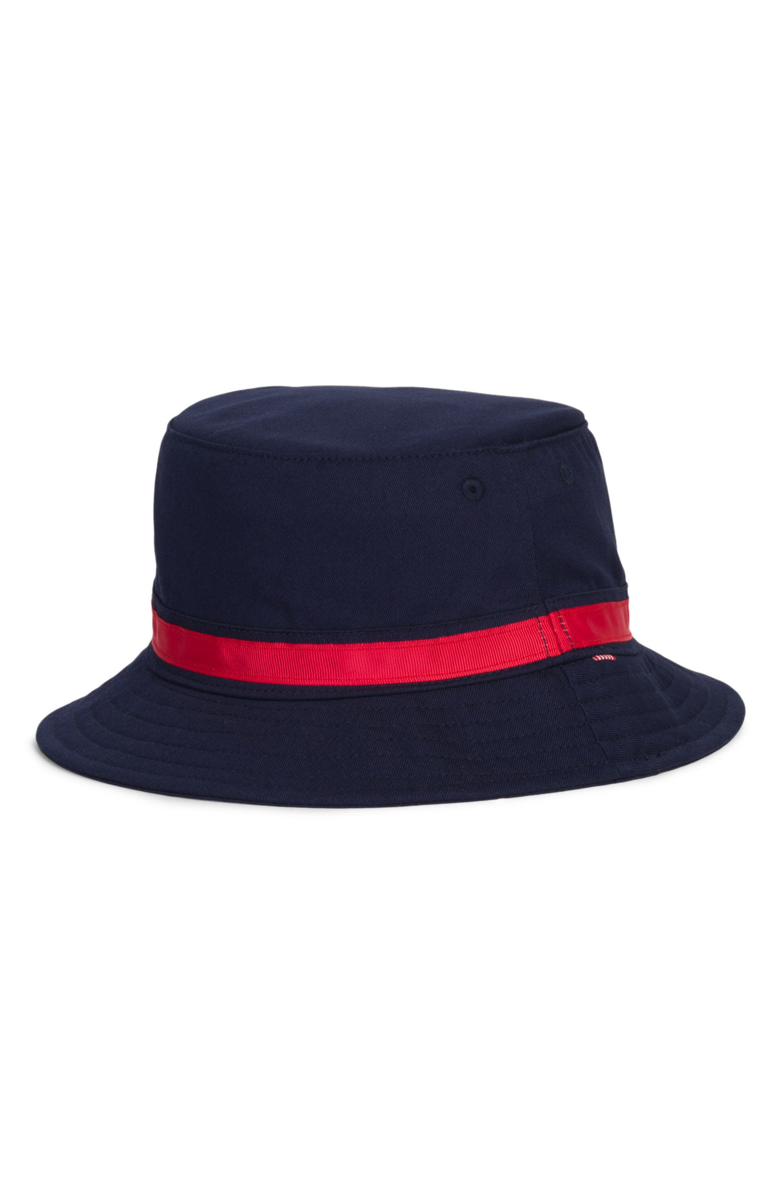 Two-Tone Lake Bucket Hat,                         Main,                         color, Navy/ Red