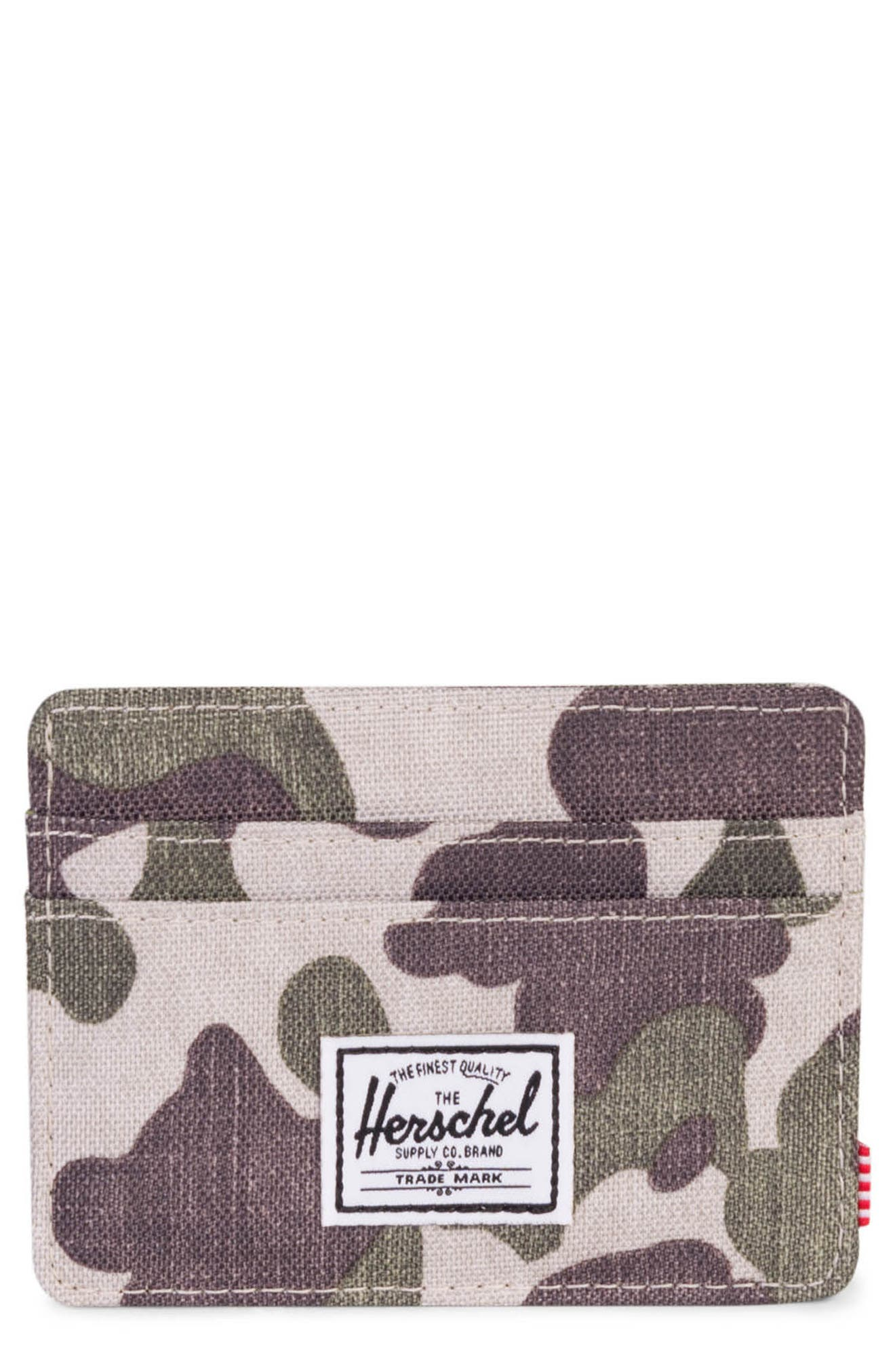 Charlie Card Case,                             Main thumbnail 1, color,                             Frog Camo