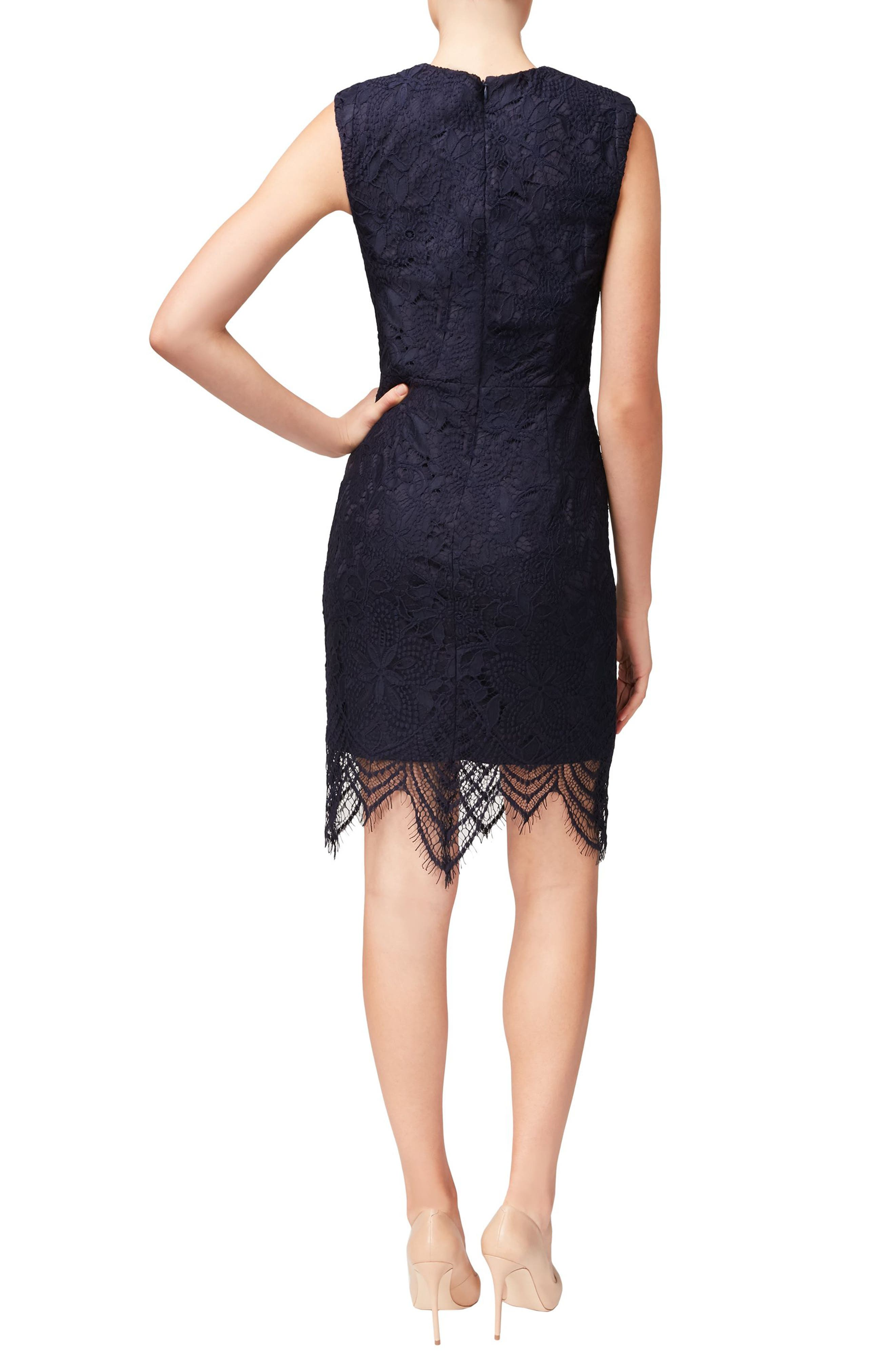 Alternate Image 2  - Betsey Johnson Lace Sheath Dress