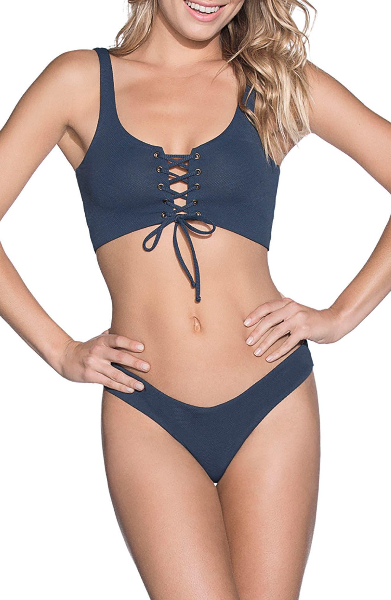 Stargazer Reversible Bikini Top,                             Alternate thumbnail 4, color,                             Heritage Blue