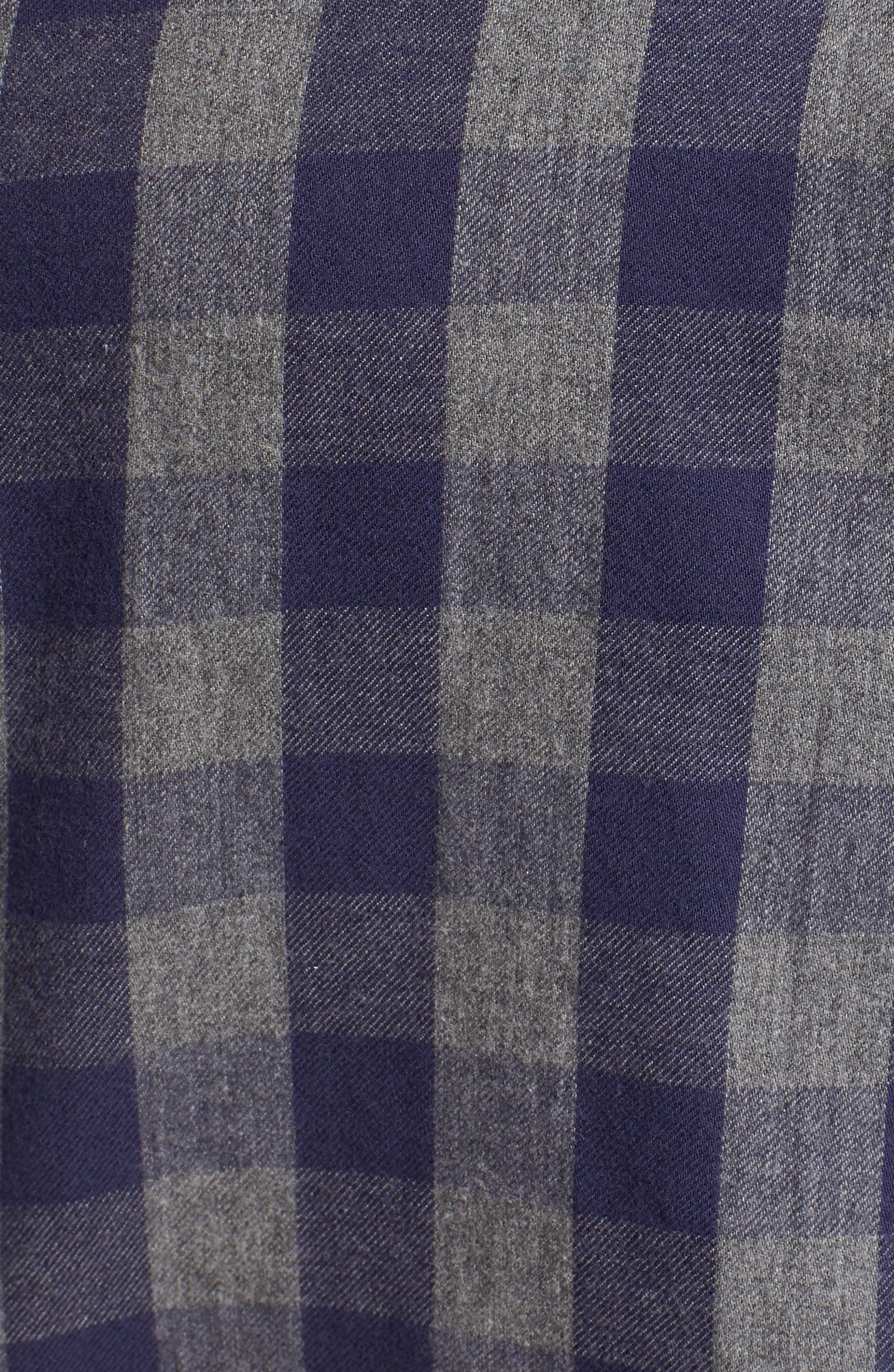 Buffalo Buddy Regular Fit Check Sport Shirt,                             Alternate thumbnail 5, color,                             Atlantic Blue
