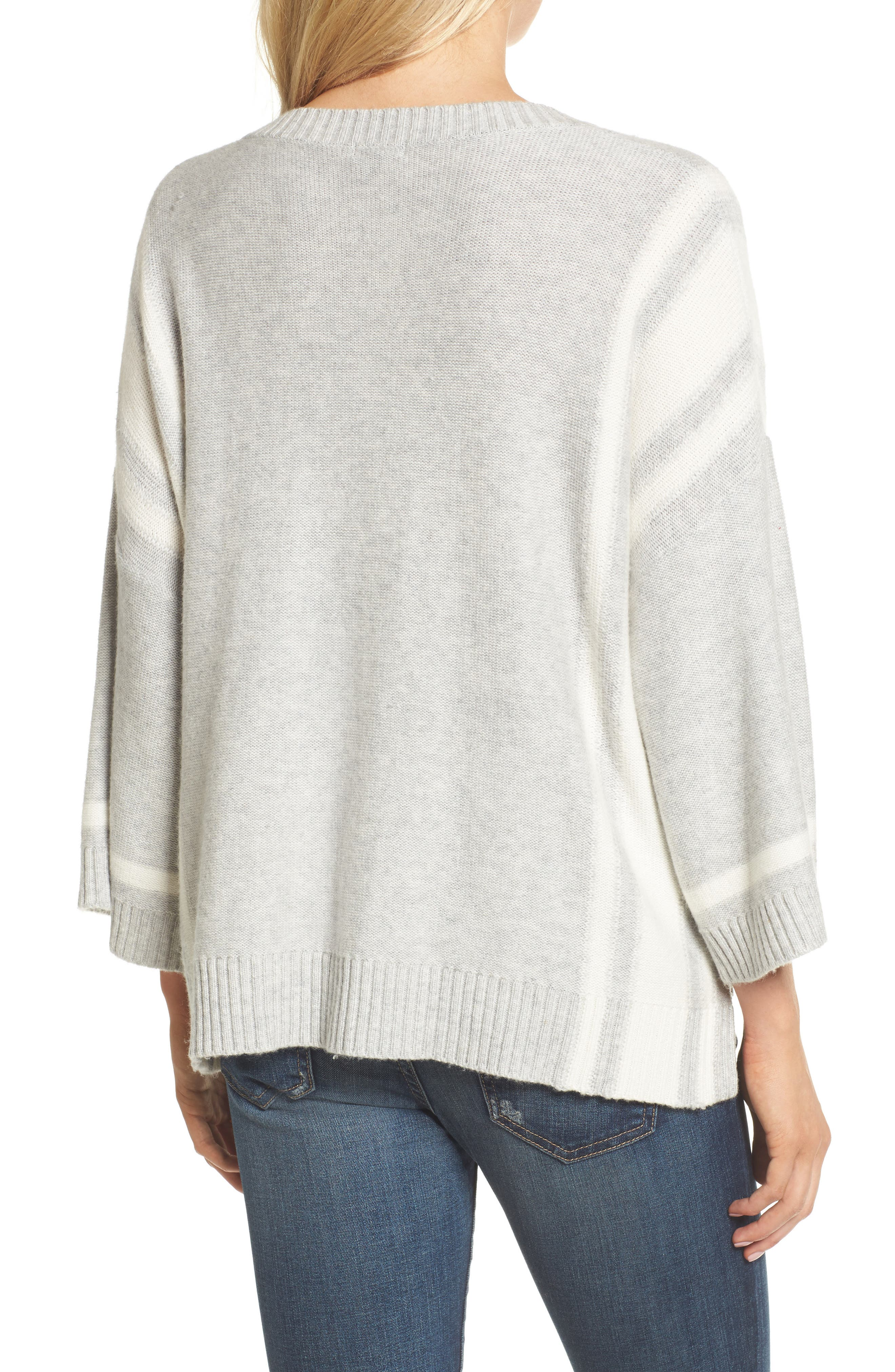 Bell Sleeve Sweater,                             Alternate thumbnail 3, color,                             Grey