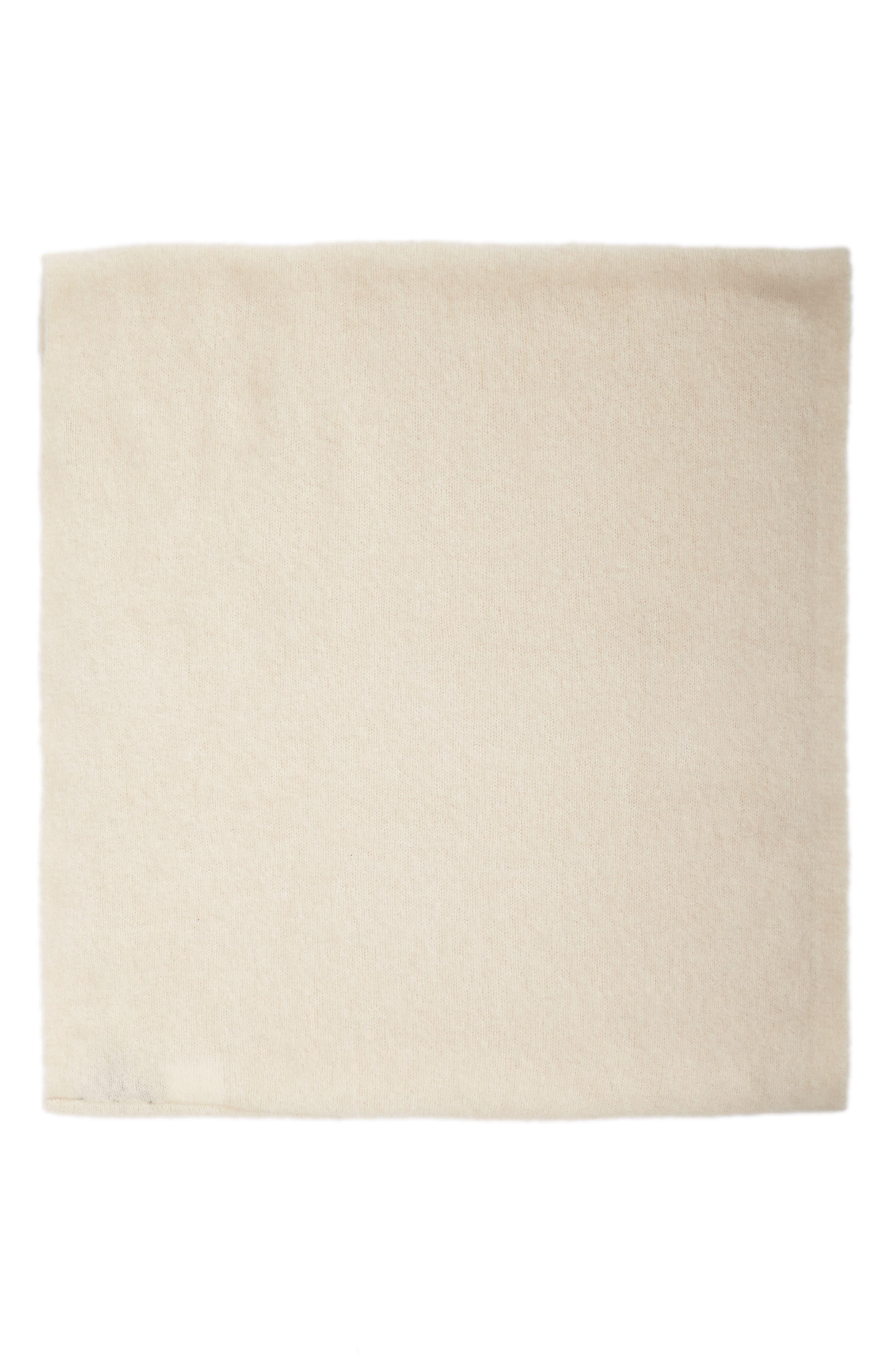 Cashmere Blend Cowl Scarf,                             Alternate thumbnail 3, color,                             Soft White