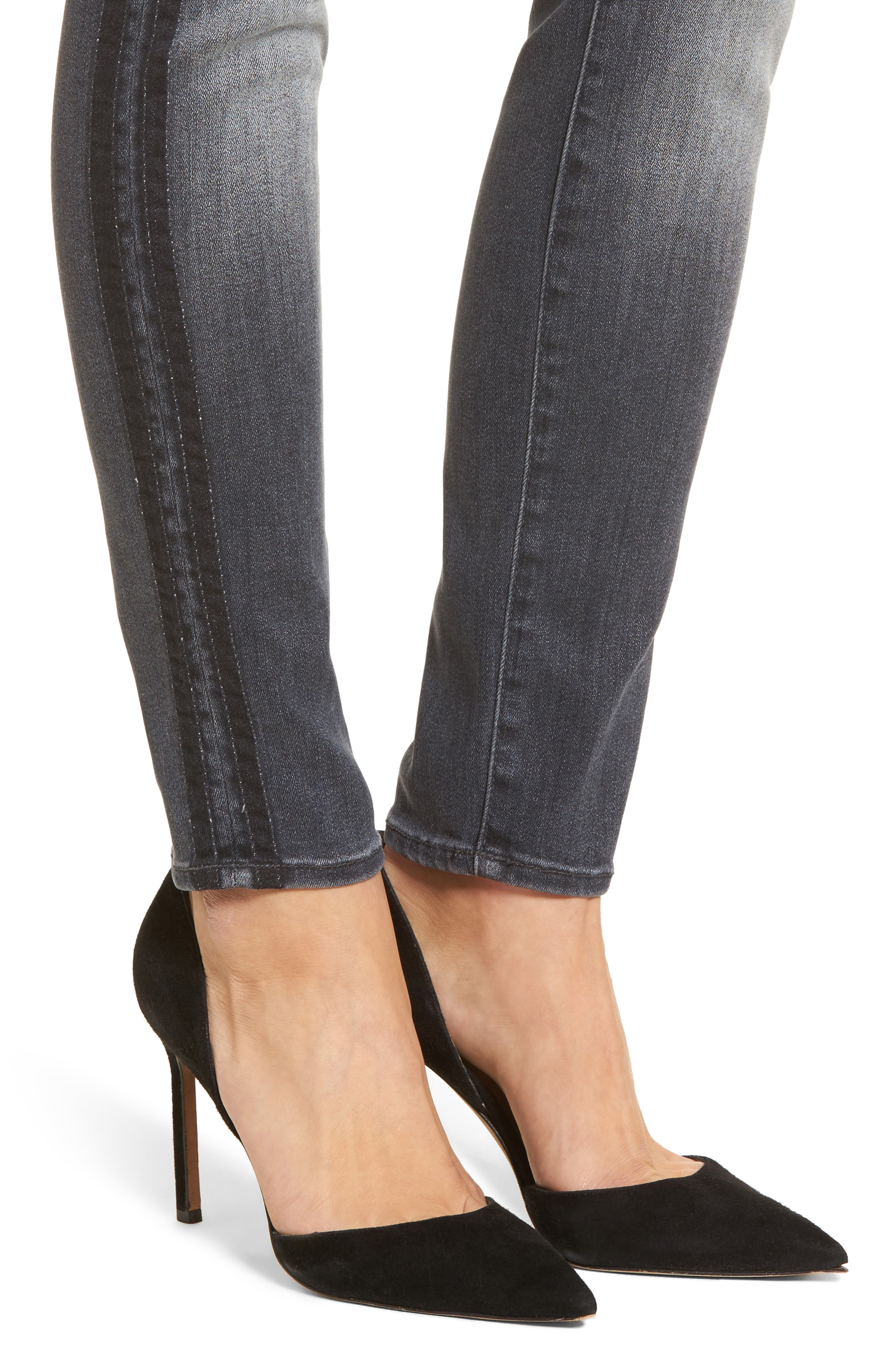 The Looker High Waist Skinny Jeans,                             Alternate thumbnail 4, color,                             Miss Moody Two Shoes Racer