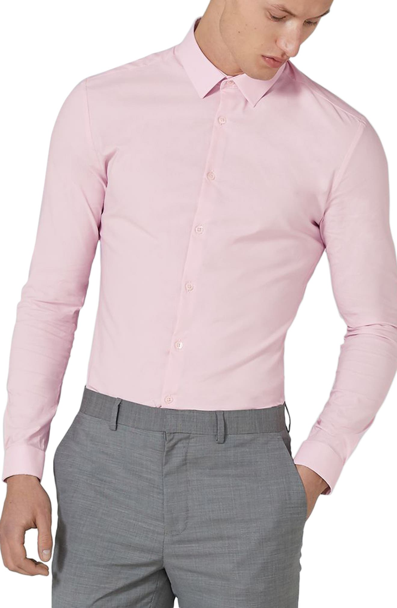 Main Image - Topman Muscle Fit Dress Shirt