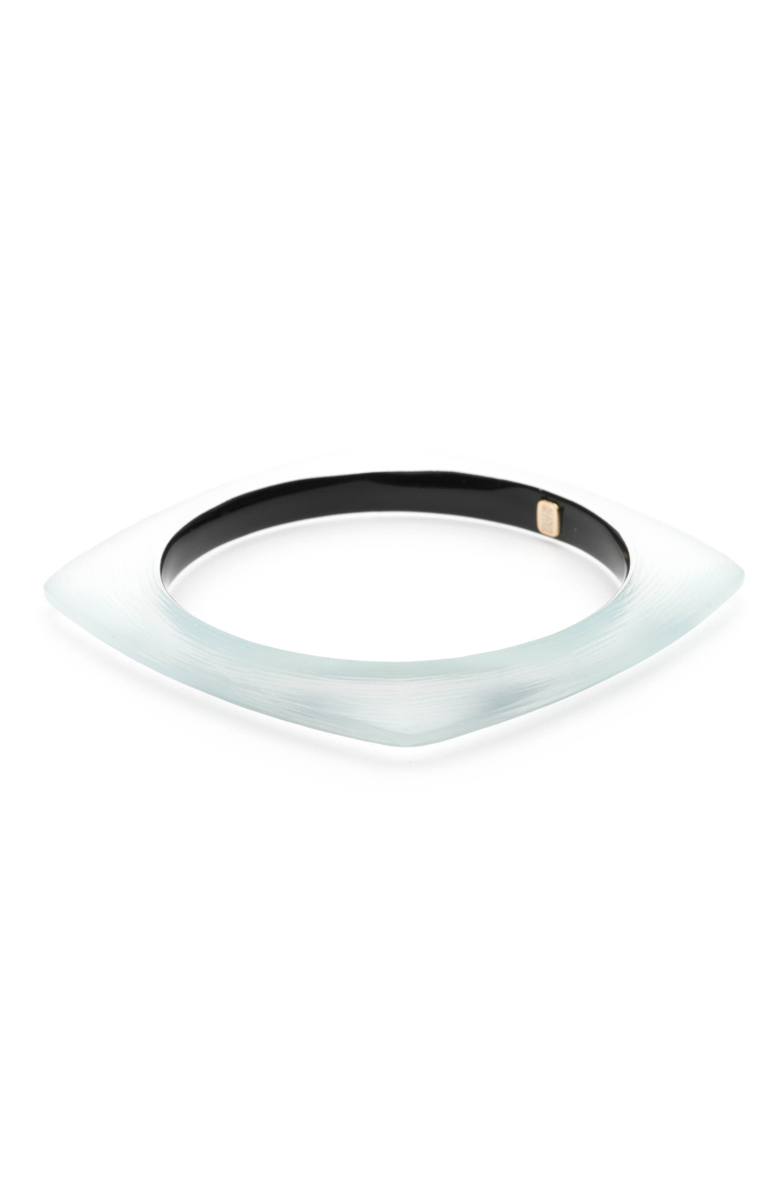 Square Lucite<sup>®</sup> Bangle Bracelet,                             Alternate thumbnail 2, color,                             Grey Blue