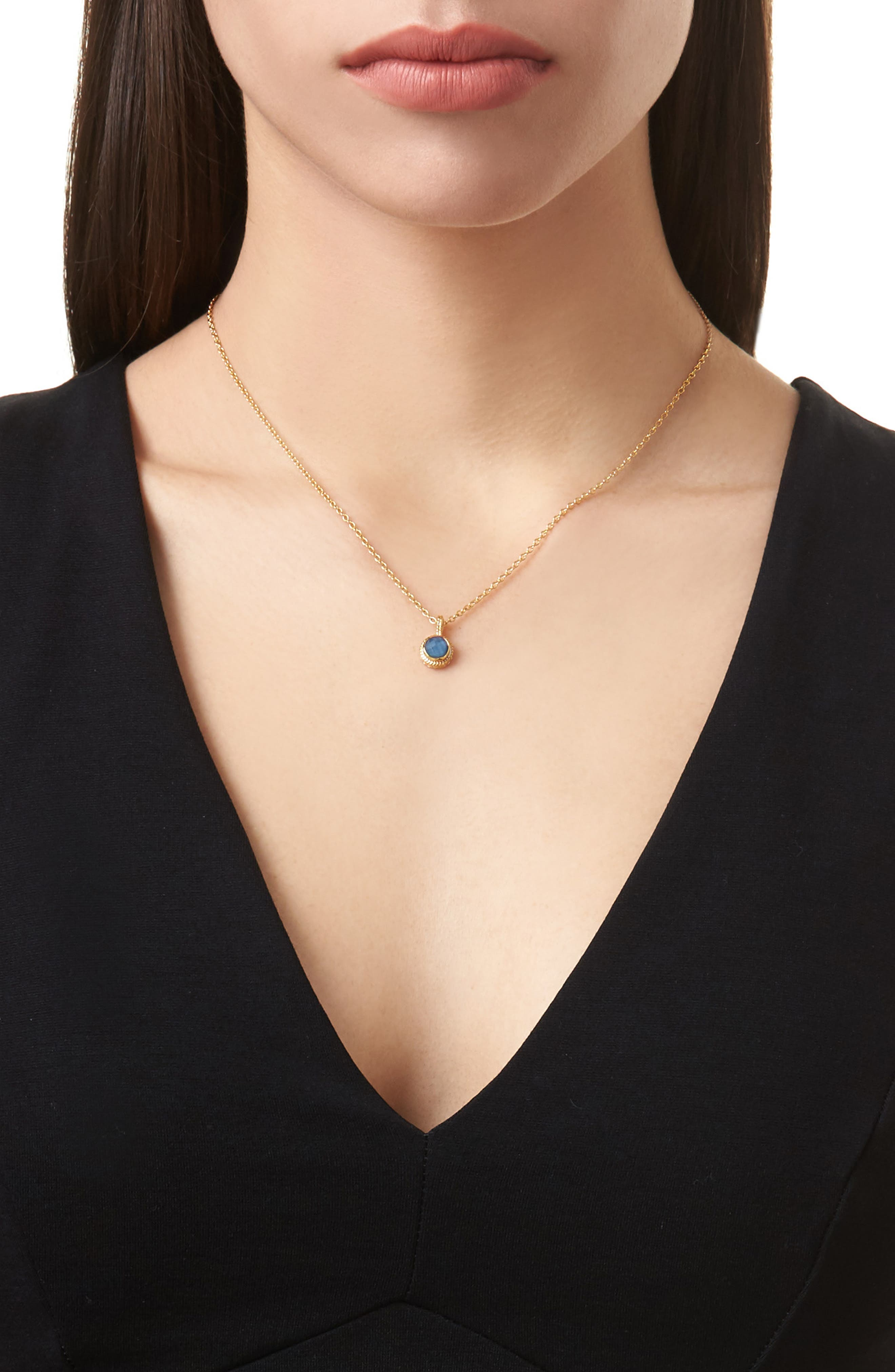 Alternate Image 2  - Anna Beck Semiprecious Stone Round Drop Pendant Necklace