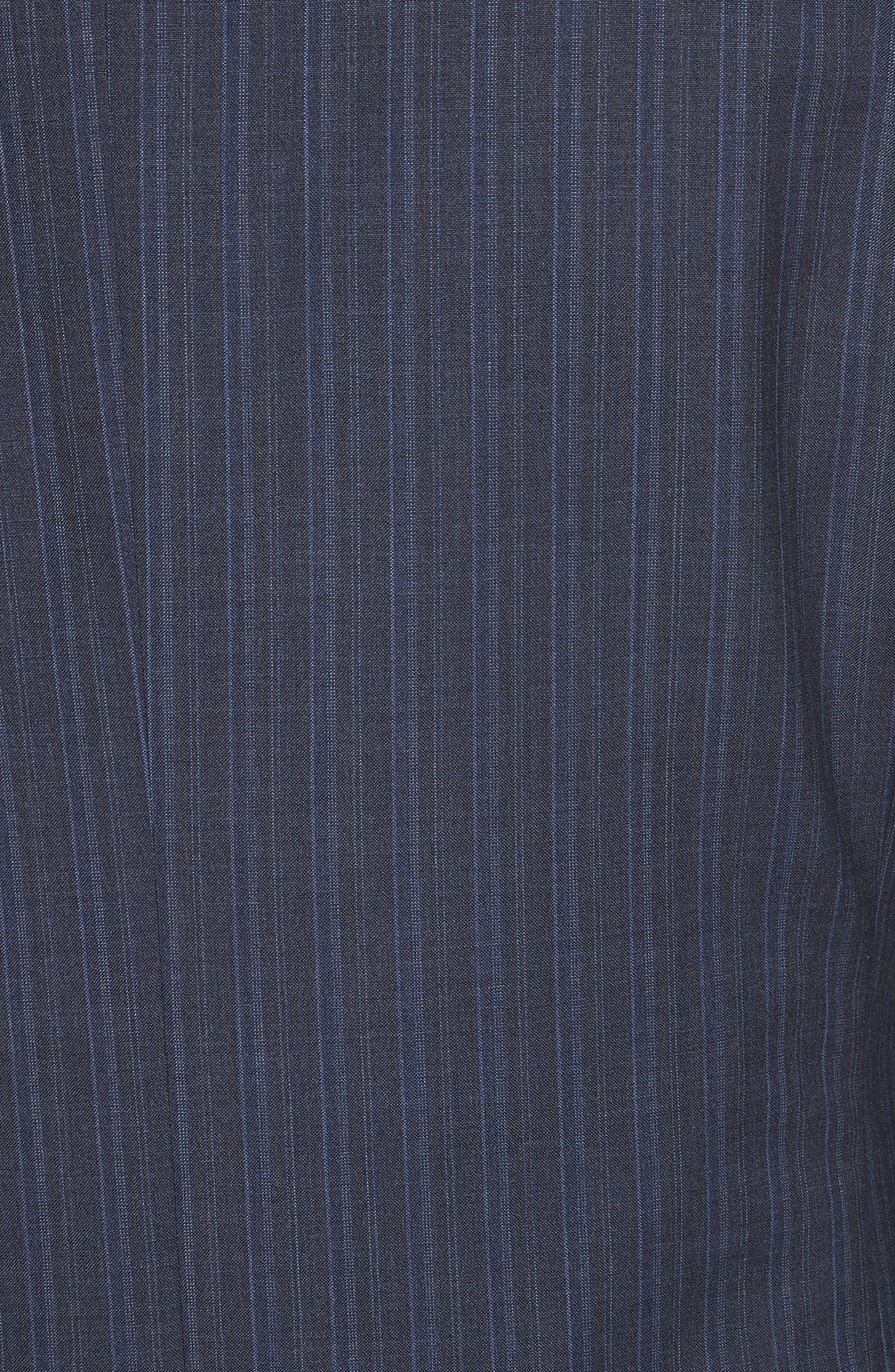 Classic Fit Stripe Wool Suit,                             Alternate thumbnail 7, color,                             Navy