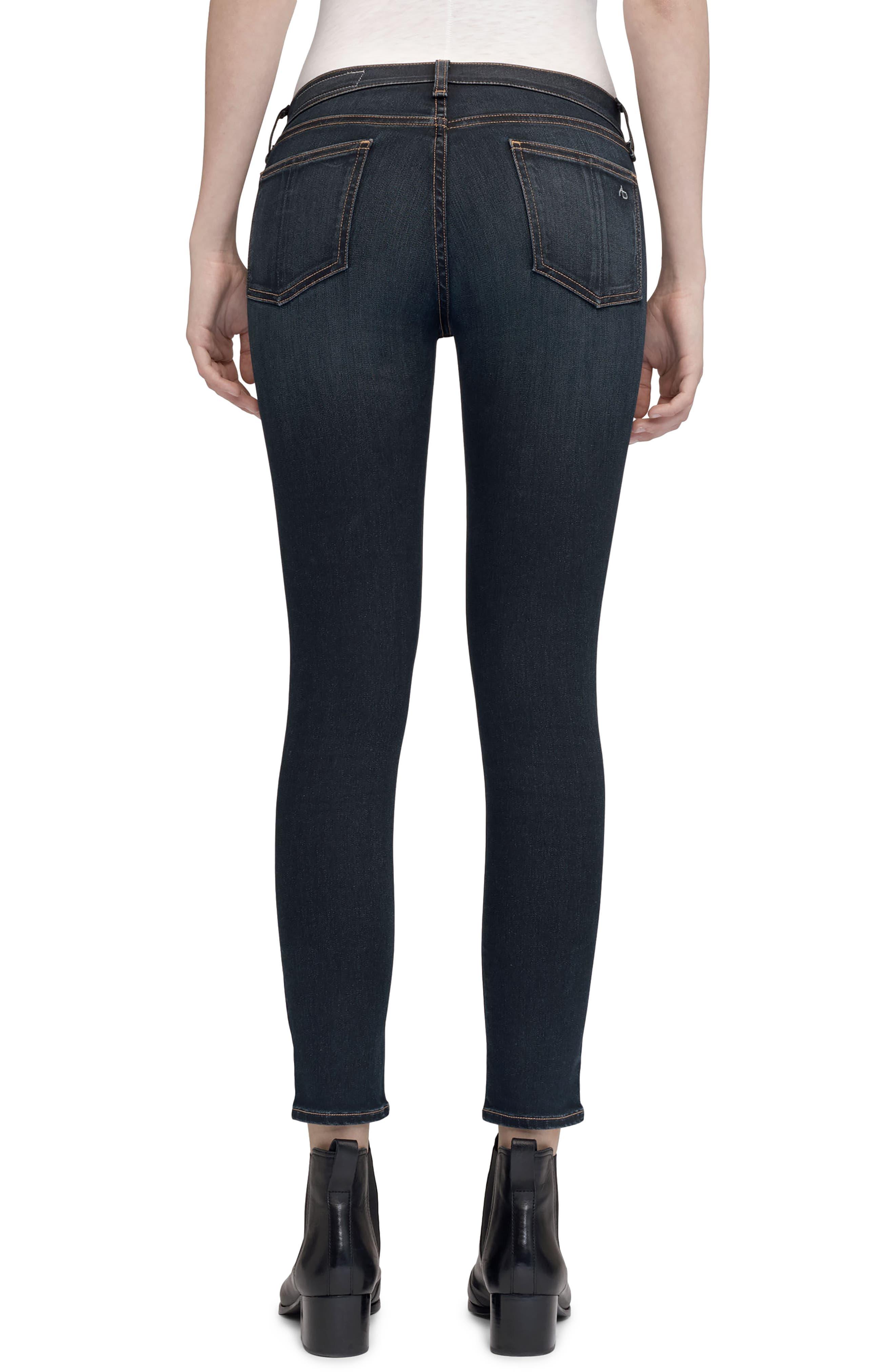High Waist Ankle Skinny Jeans,                             Alternate thumbnail 2, color,                             Bedford