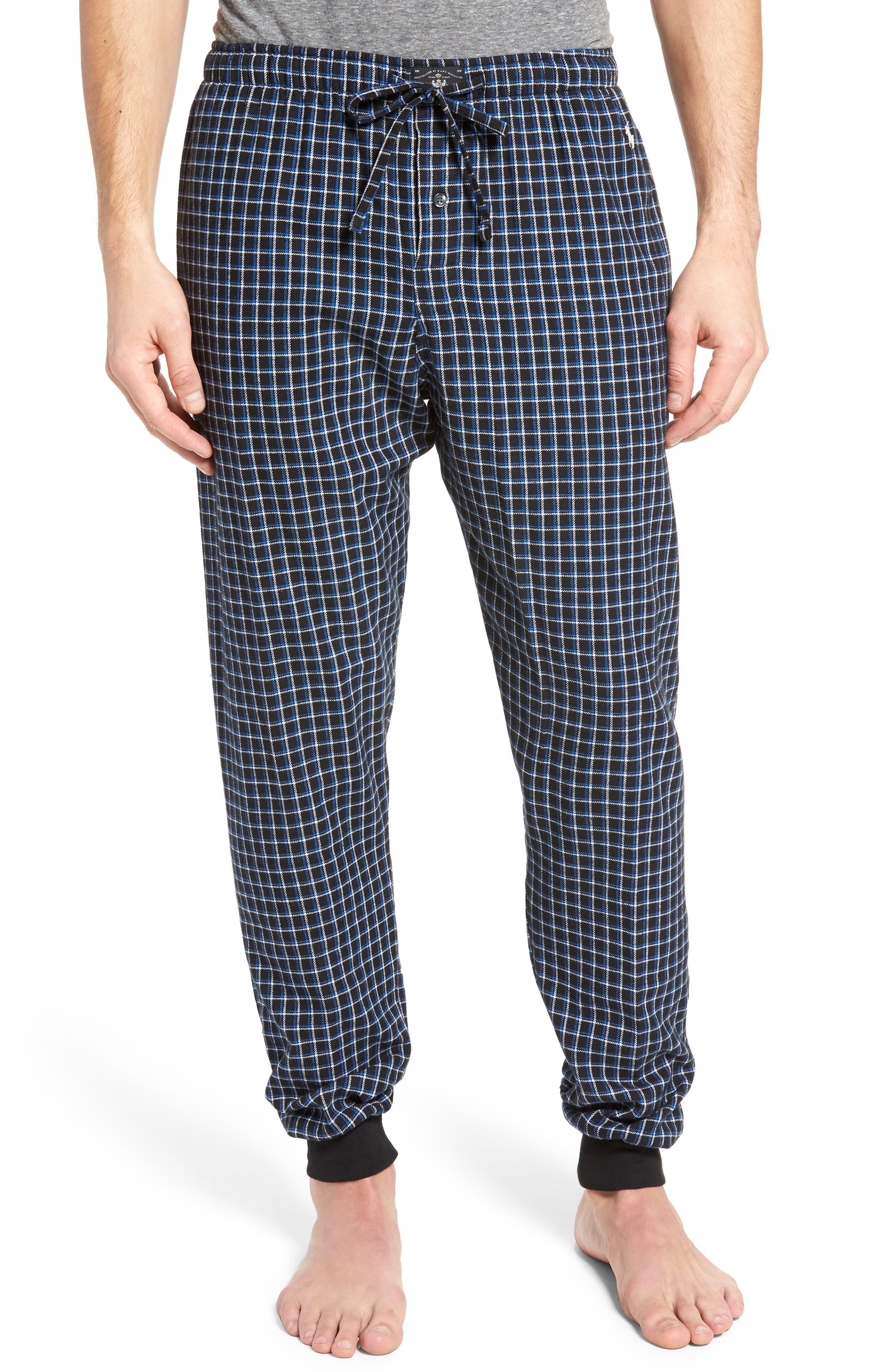 Flannel Pajama Jogger Pants,                             Main thumbnail 1, color,                             Logan Plaid/ Crescent Cream