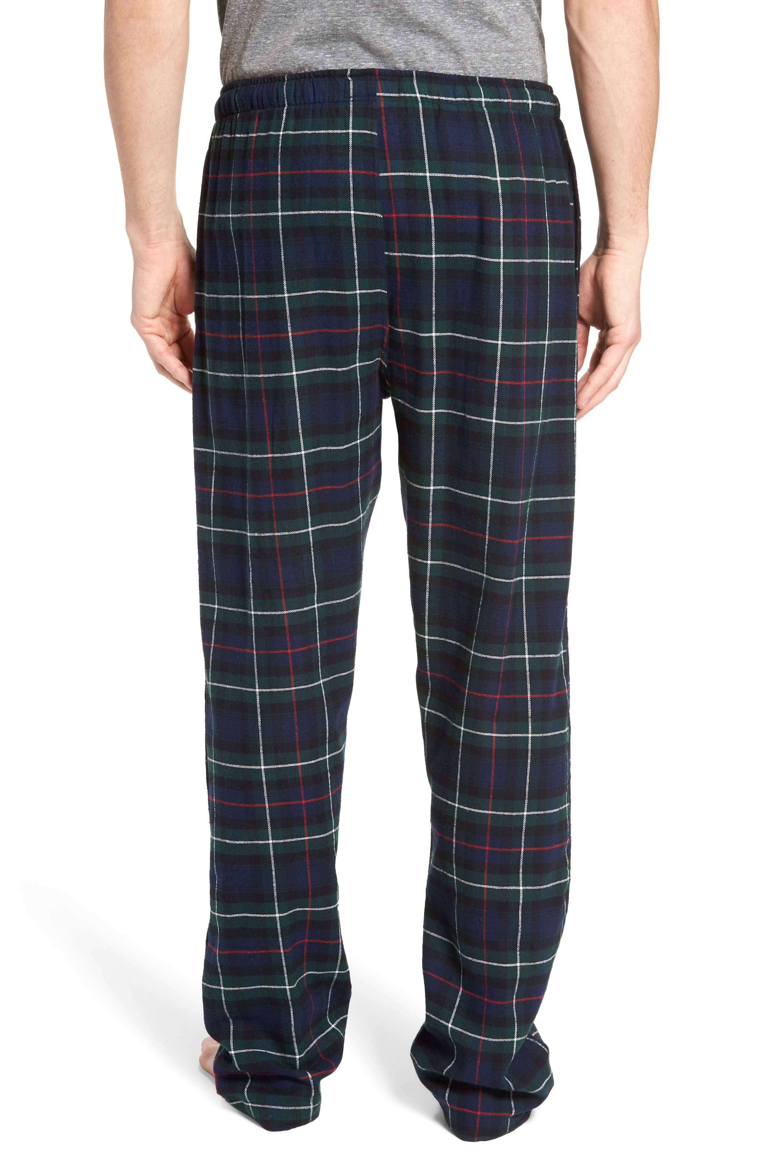Flannel Pajama Pants,                             Alternate thumbnail 2, color,                             Blackwatch/ Cruise Navy/ Gold