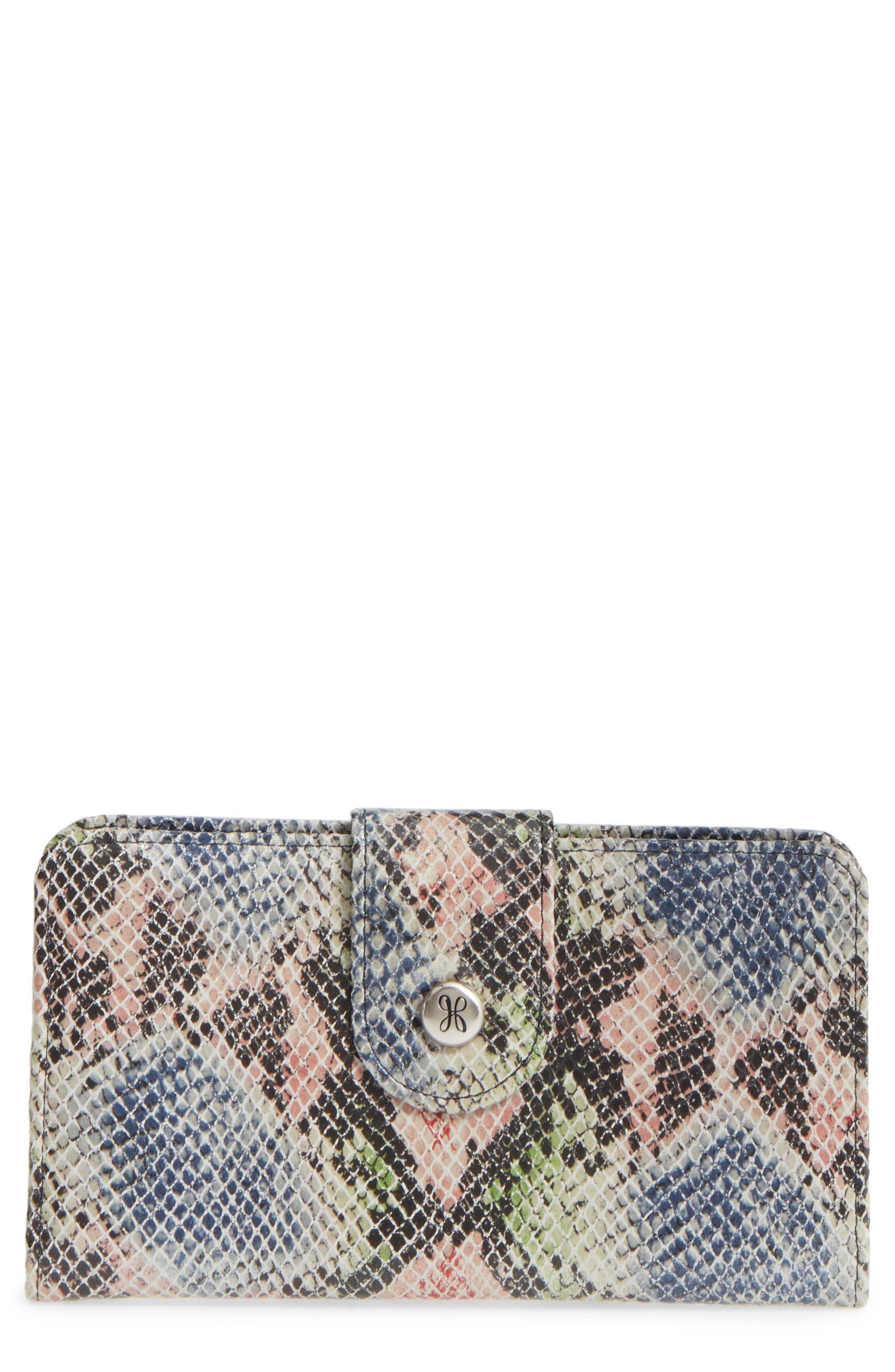Main Image - Hobo 'Danette' Glazed Leather Continental Wallet